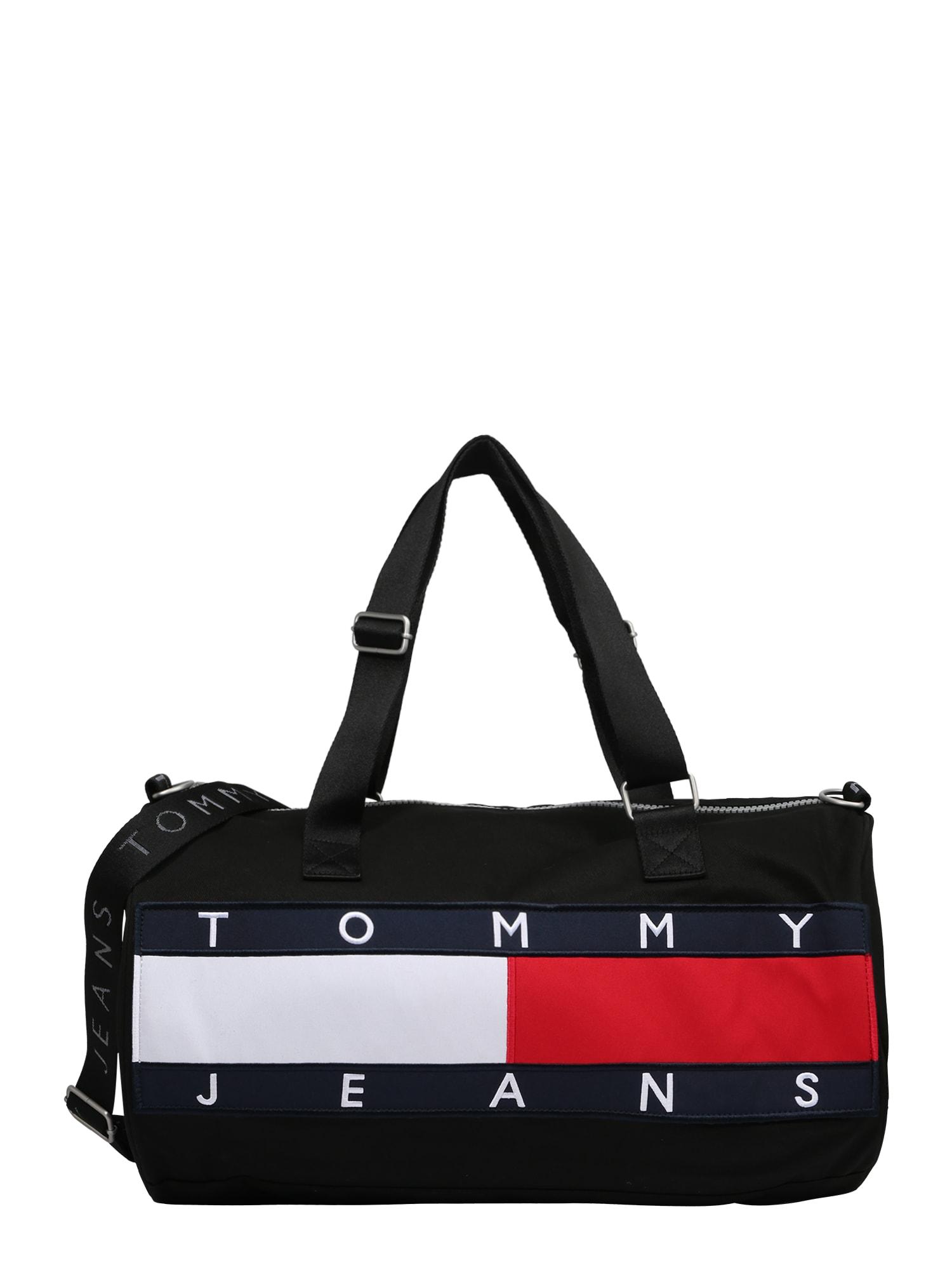 Tommy Jeans Kelioninis krepšys juoda / tamsiai mėlyna / balta / raudona