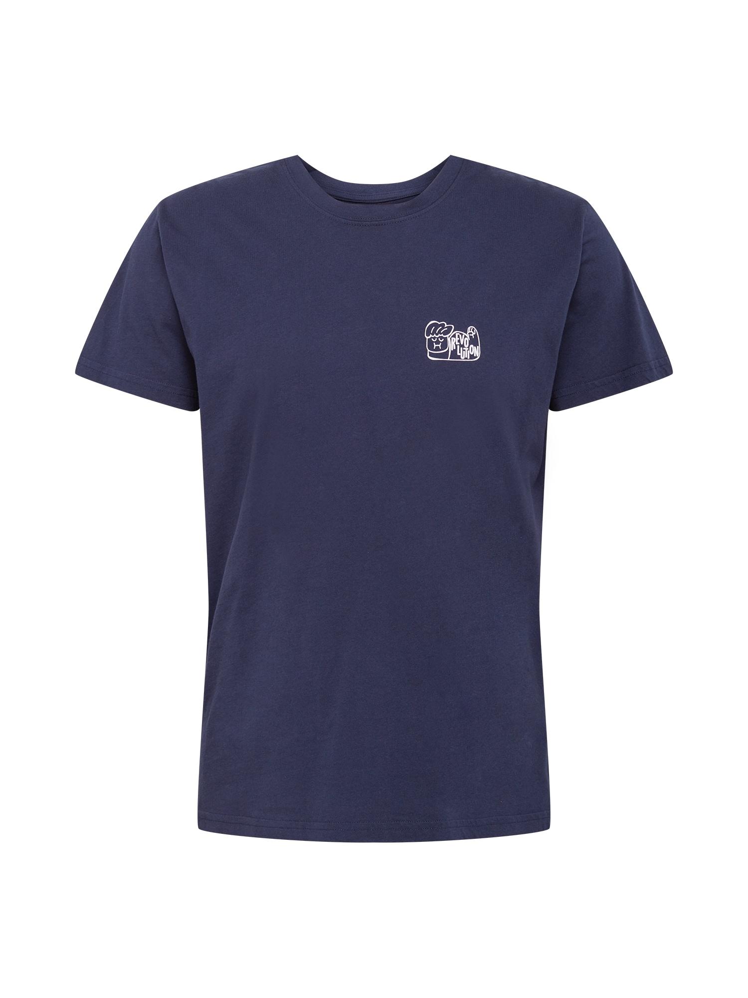 Revolution Marškinėliai tamsiai mėlyna jūros spalva / balta