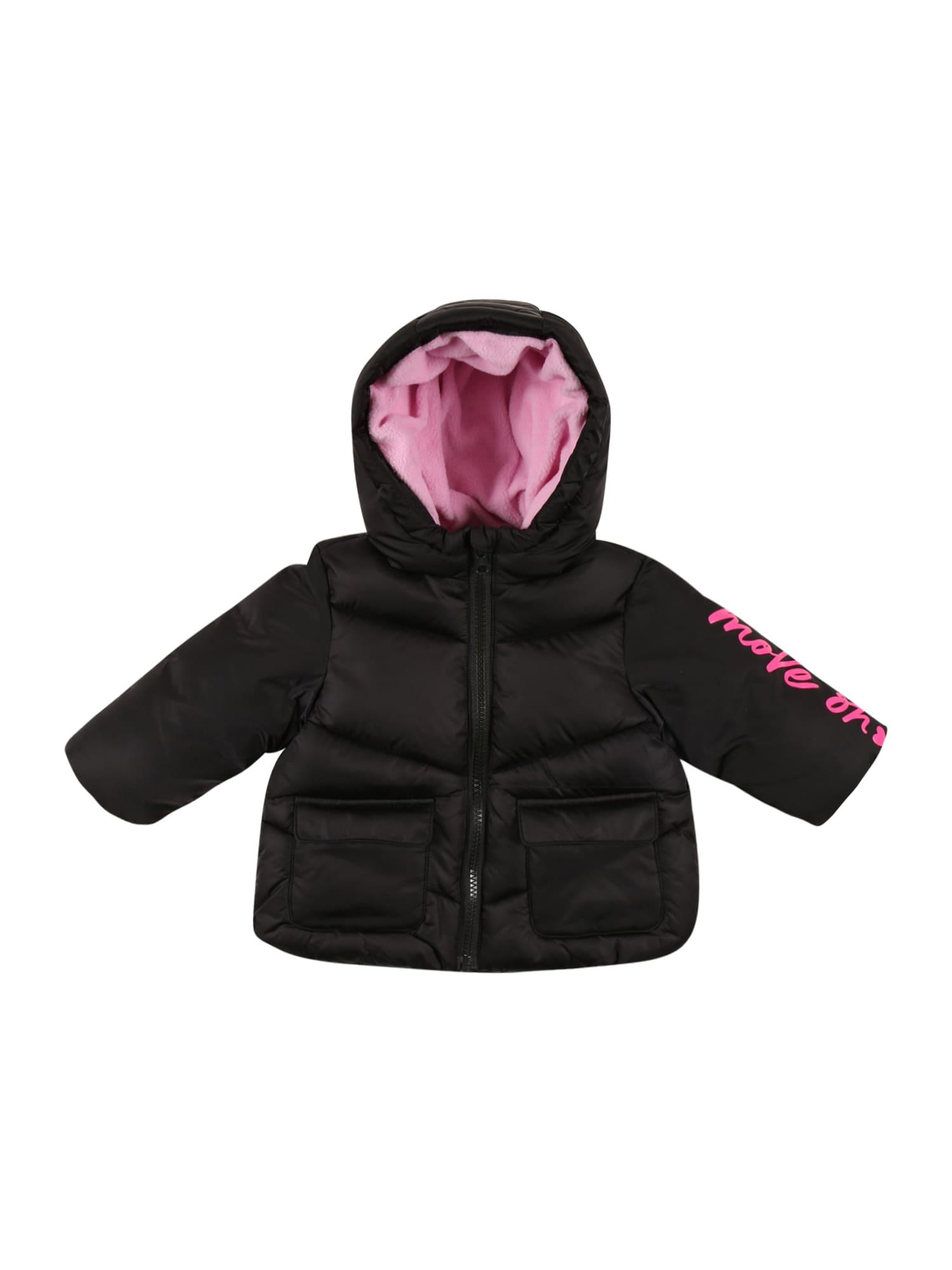 UNITED COLORS OF BENETTON Žieminė striukė juoda / rožinė