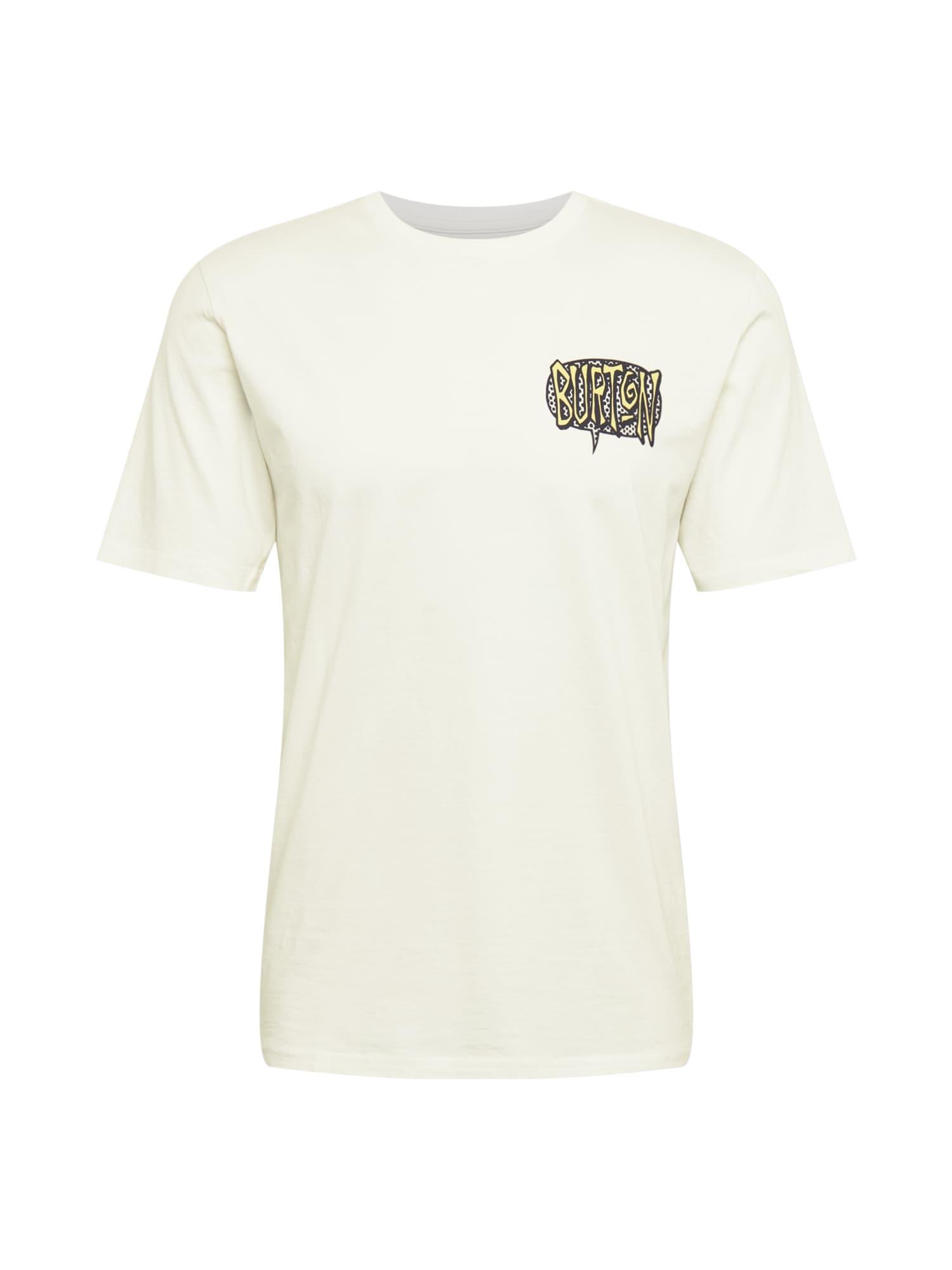 BURTON Sportiniai marškinėliai balta / šviesiai pilka / juoda / šviesiai geltona