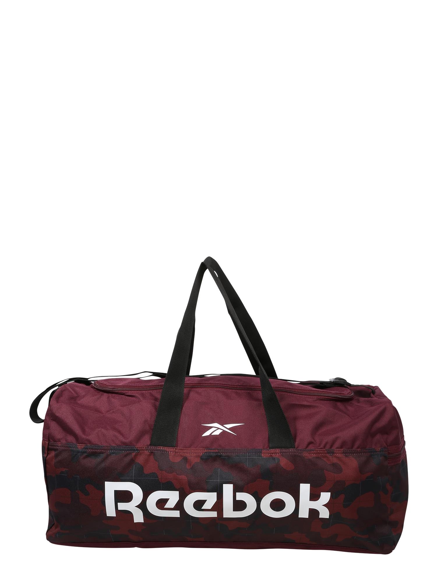 REEBOK Sportovní taška  pastelově červená / bílá / černá / vínově červená / noční modrá