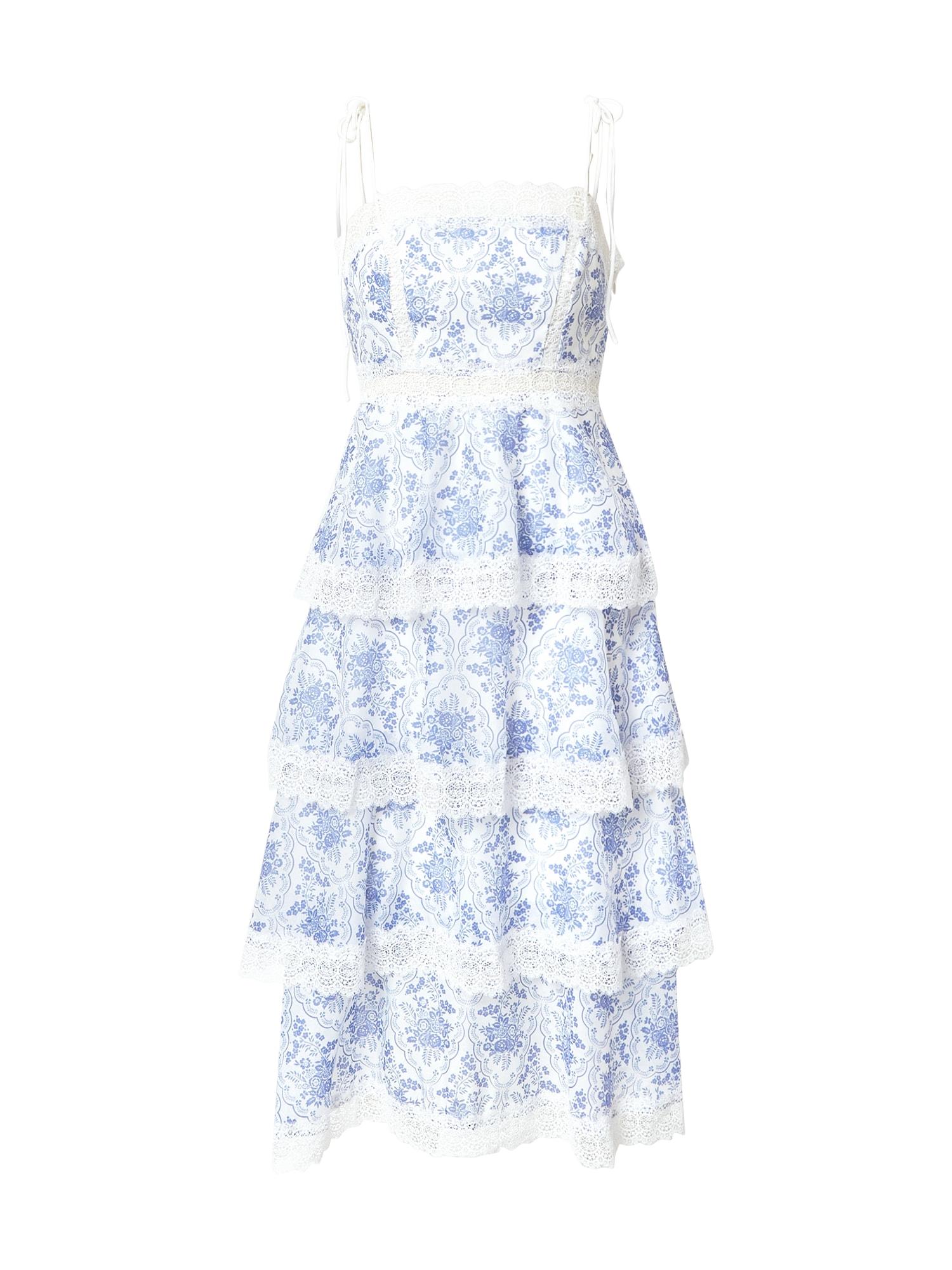"True Decadence Kokteilinė suknelė sodri mėlyna (""karališka"") / balta"
