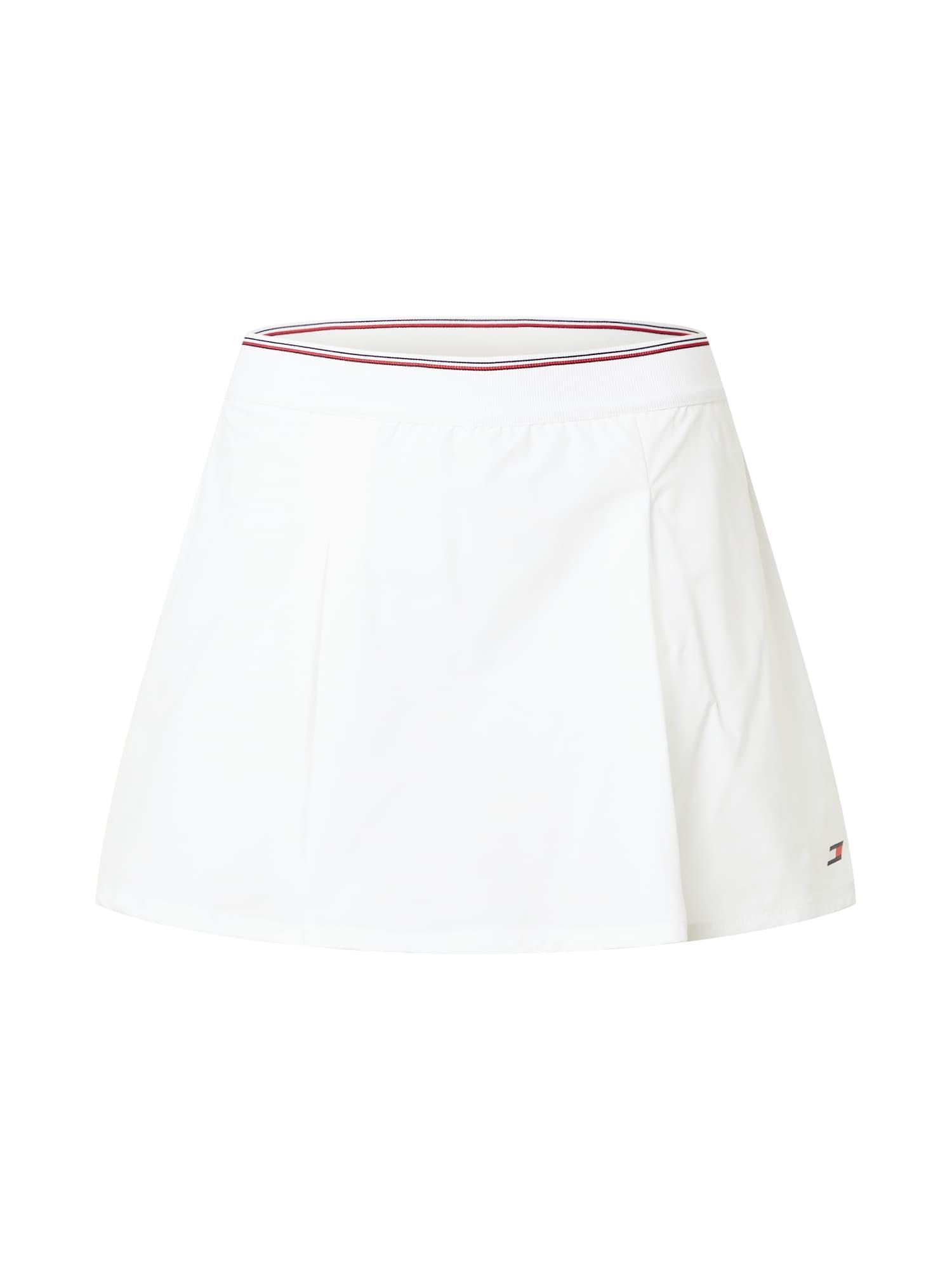 Tommy Sport Sportinio stiliaus sijonas balkšva / tamsiai mėlyna / raudona