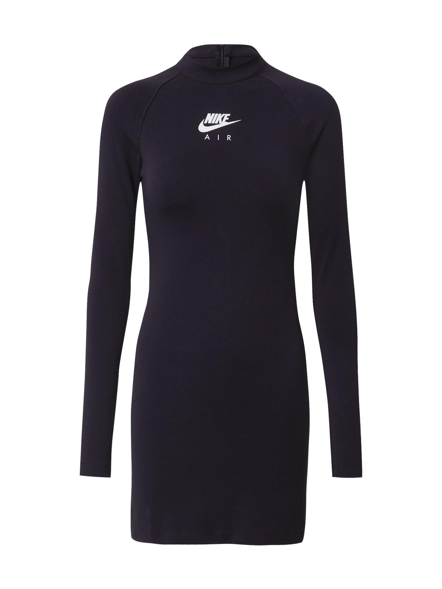 Nike Sportswear Sportovní šaty  černá / bílá