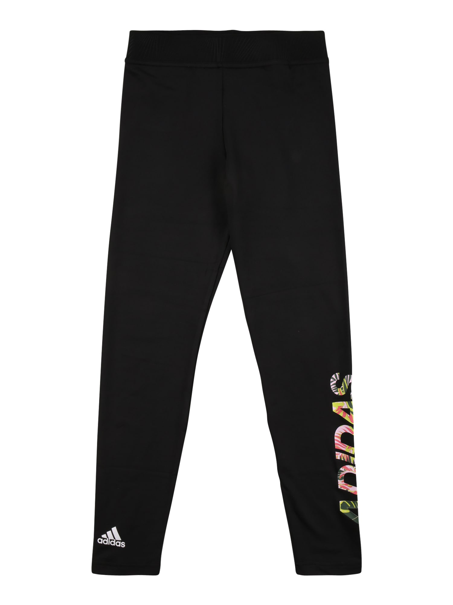 ADIDAS PERFORMANCE Sportinės kelnės juoda / balta / mišrios spalvos