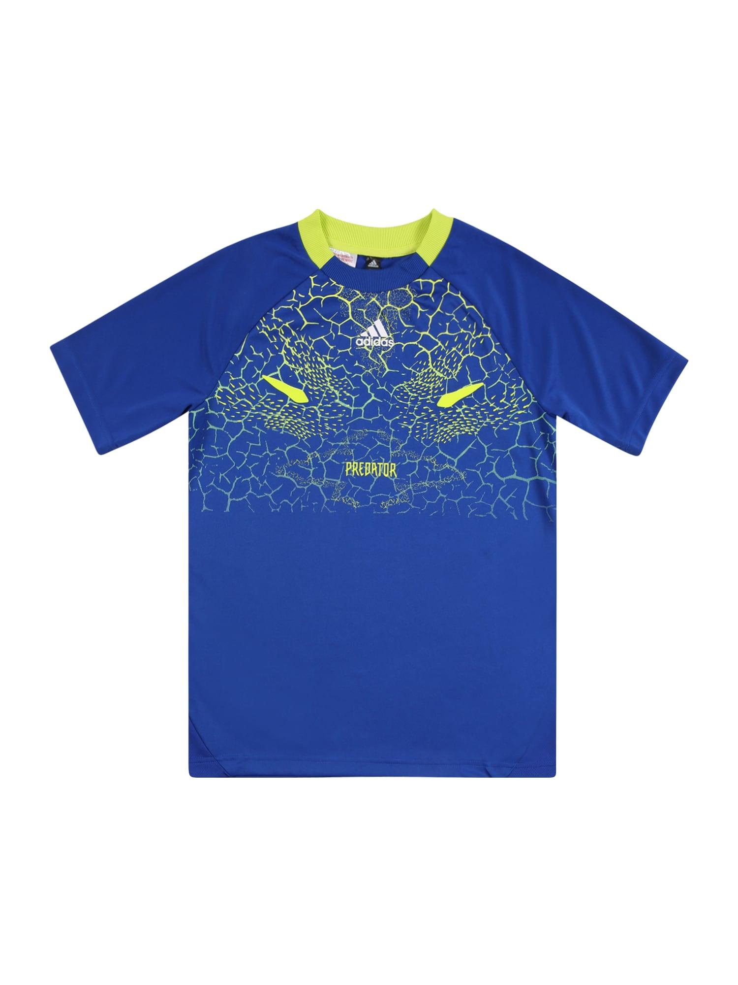 ADIDAS PERFORMANCE Funkční tričko  modrá / limetková