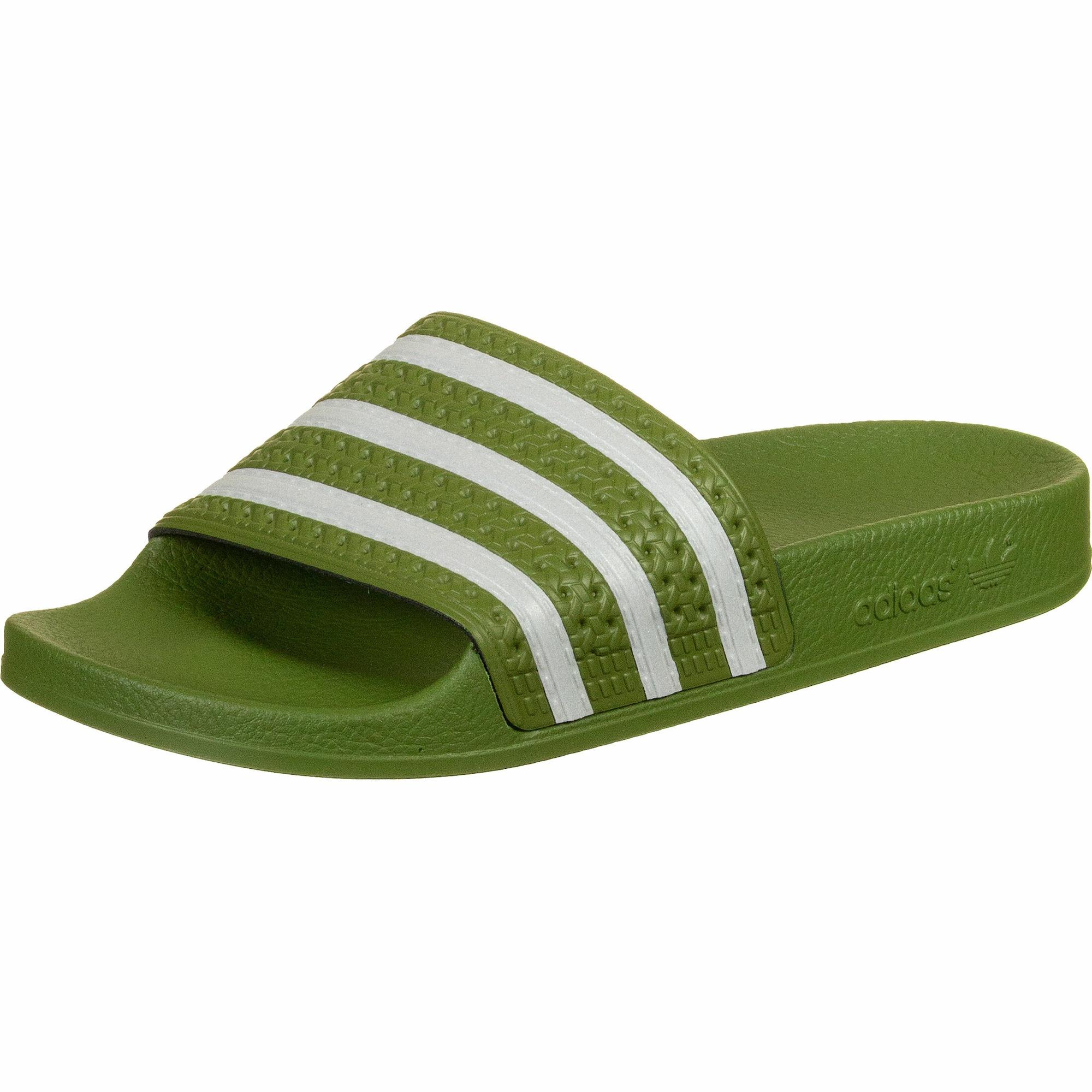 ADIDAS ORIGINALS Plážová/koupací obuv 'Adilette'  bílá / zelená