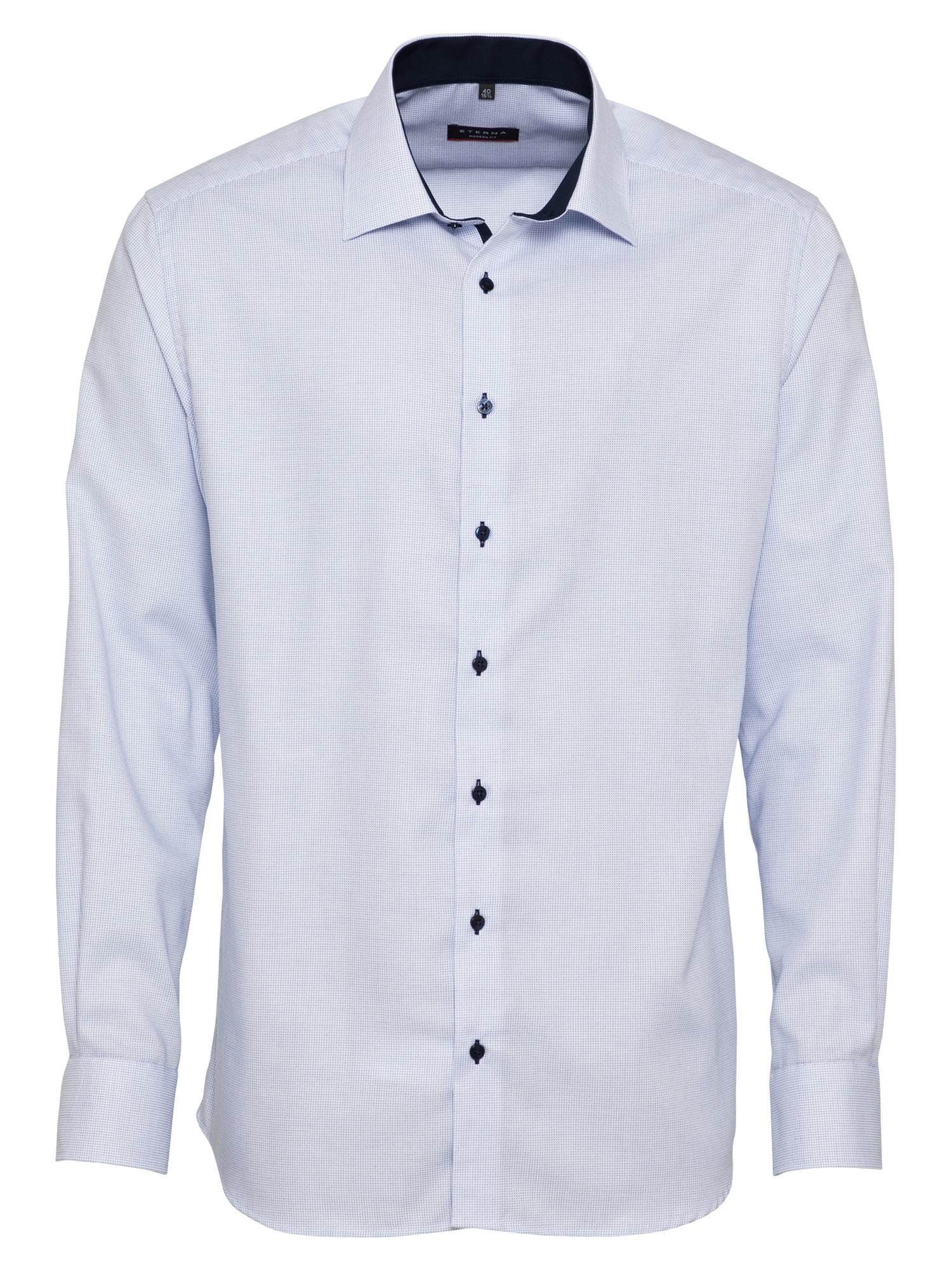 ETERNA Dalykinio stiliaus marškiniai nakties mėlyna / šviesiai mėlyna / balta