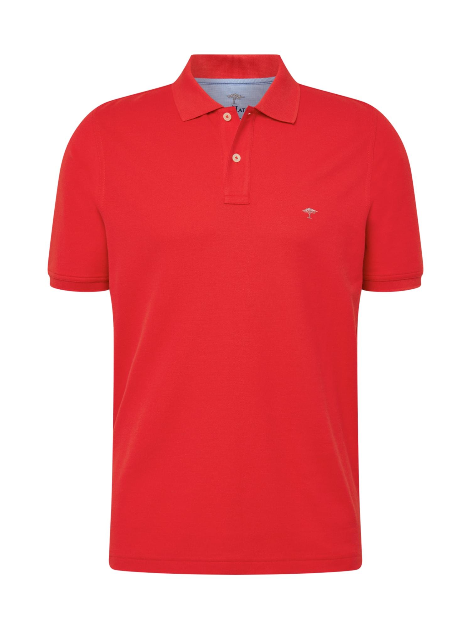 FYNCH-HATTON Marškinėliai balta / šviesiai raudona