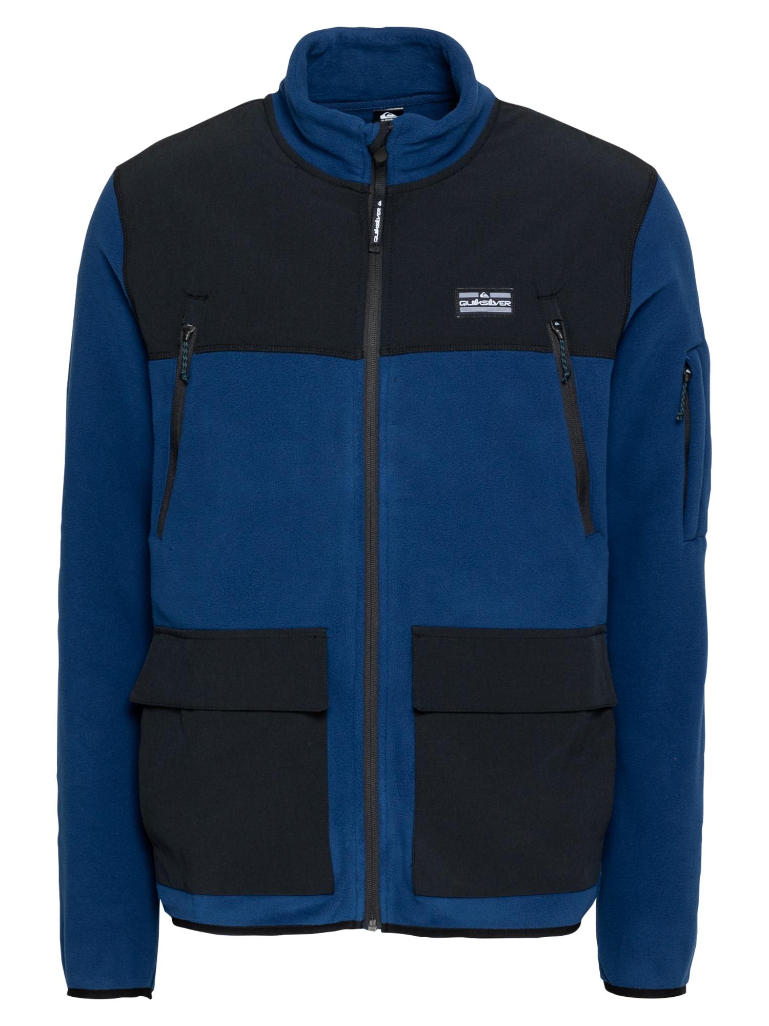 QUIKSILVER Flisinis džemperis juoda / tamsiai mėlyna