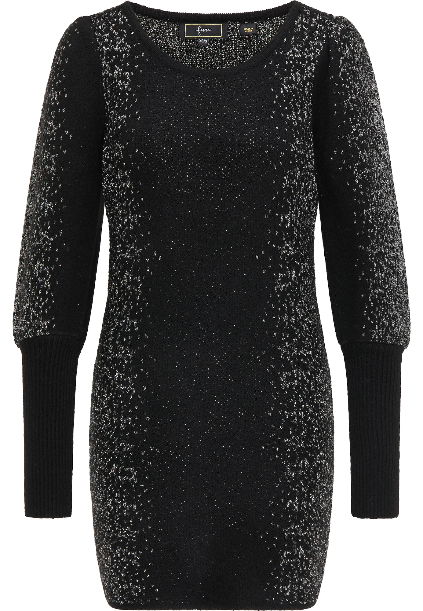 faina Megzta suknelė juoda
