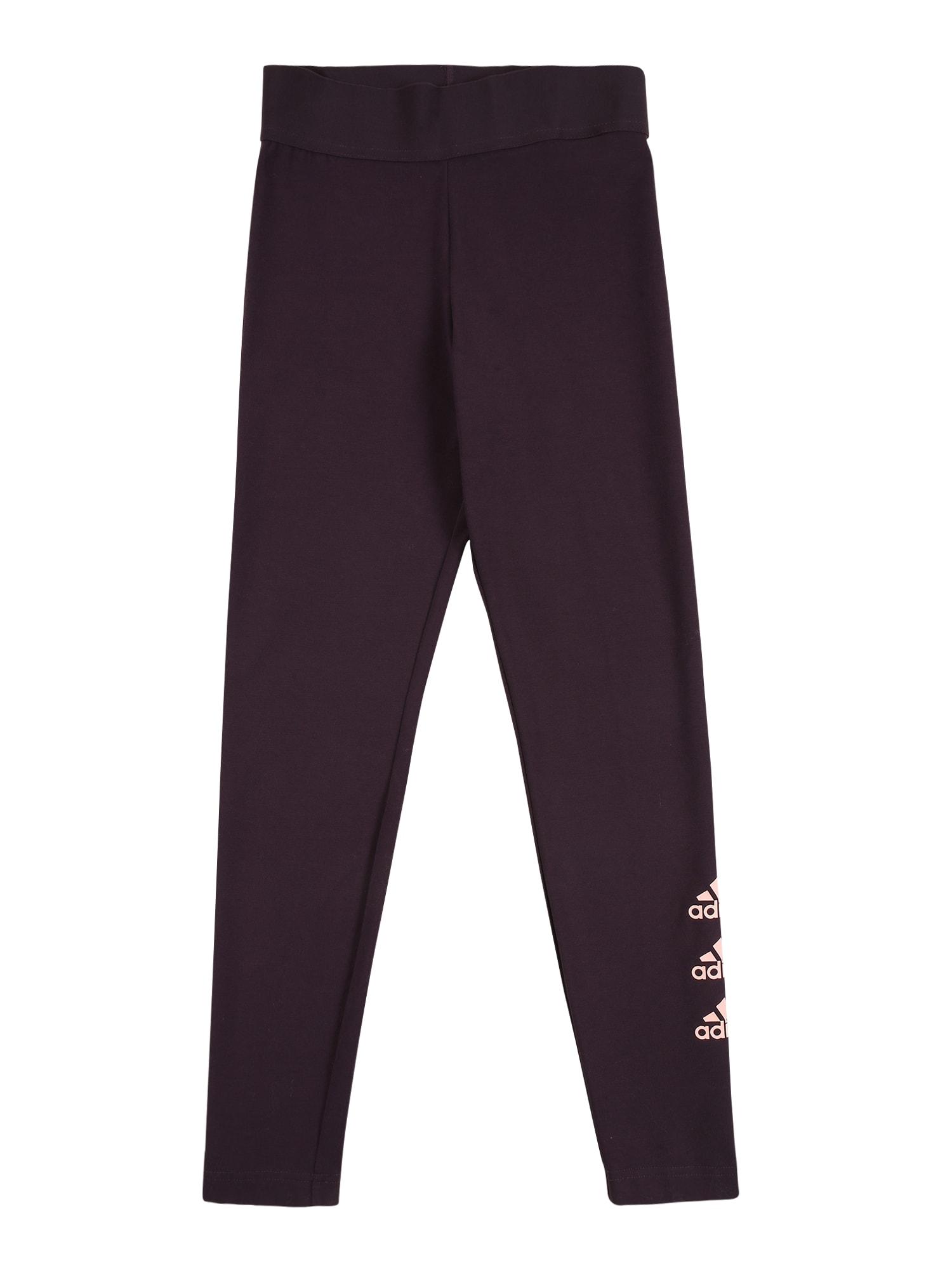 ADIDAS PERFORMANCE Sportovní kalhoty  tmavě fialová / jasně oranžová