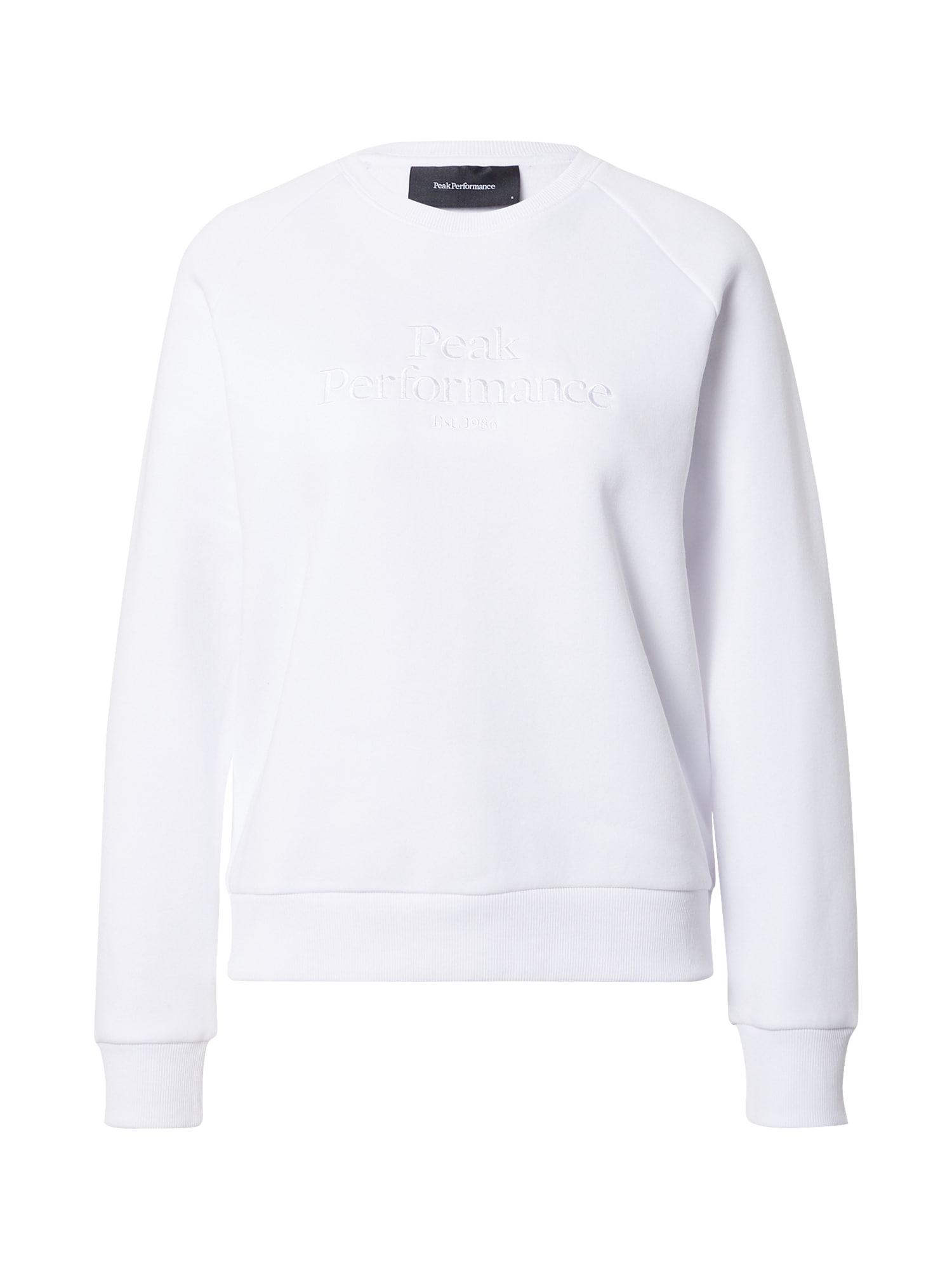 PEAK PERFORMANCE Sportinio tipo megztinis balta