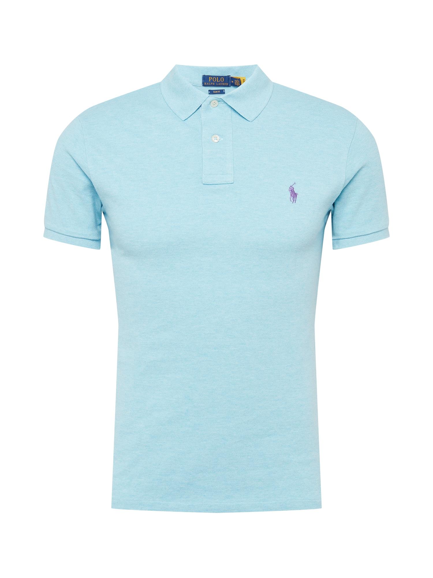 POLO RALPH LAUREN Marškinėliai šviesiai mėlyna / uogų spalva
