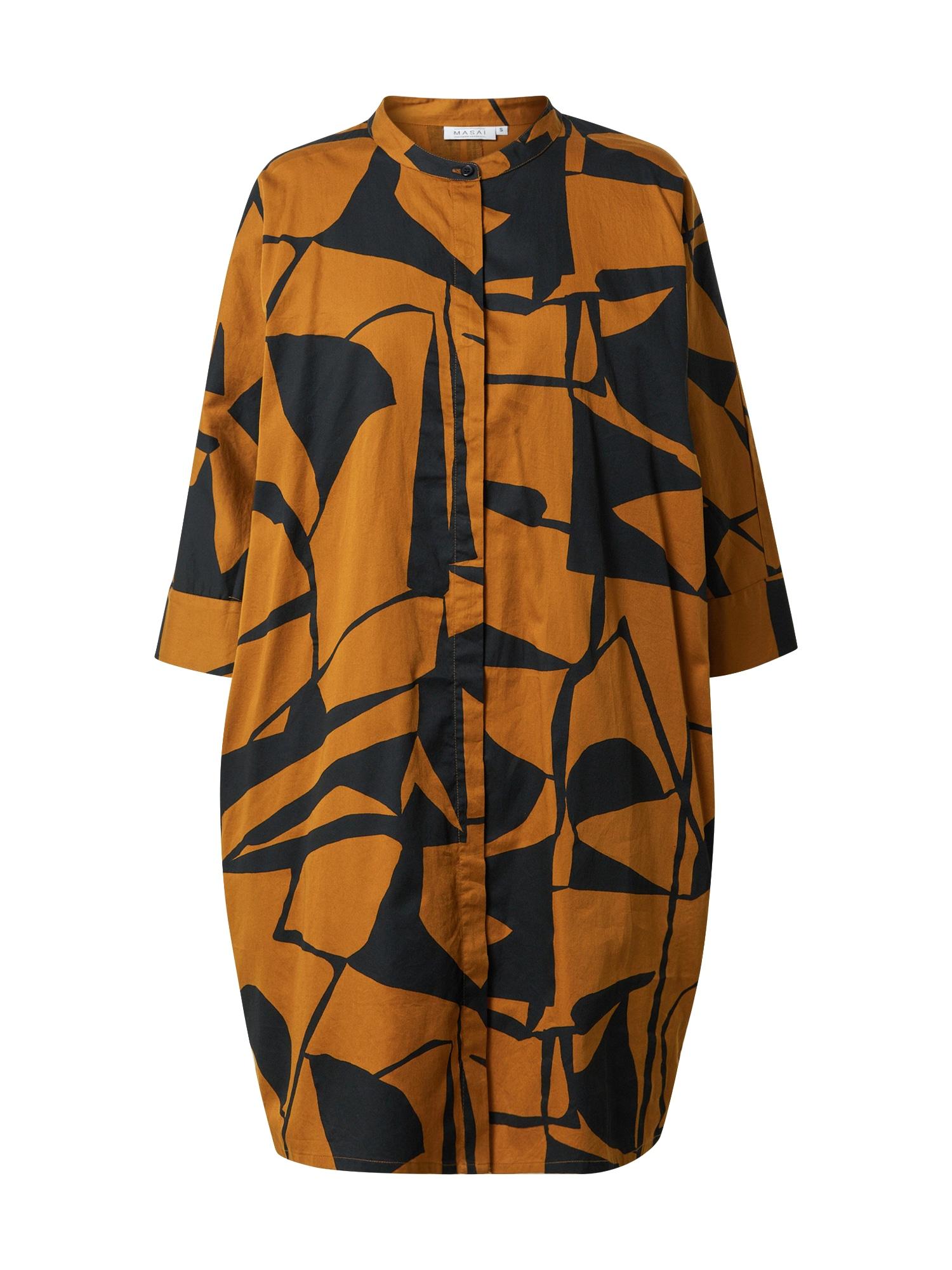 Masai Šaty 'Iosetta'  světle hnědá / černá