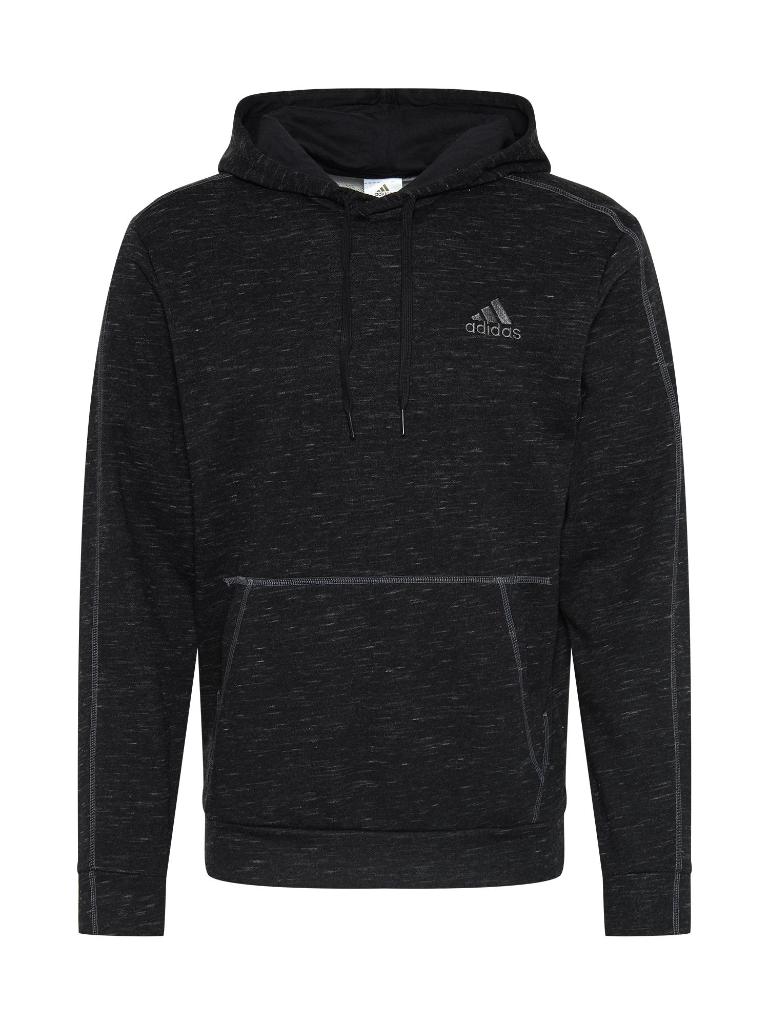 ADIDAS PERFORMANCE Sportinio tipo megztinis margai juoda / pilka