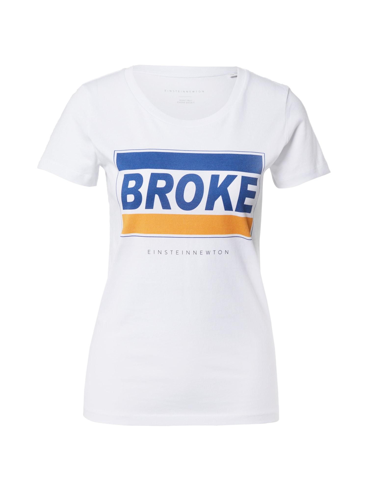 EINSTEIN & NEWTON Marškinėliai balta / oranžinė / dangaus žydra