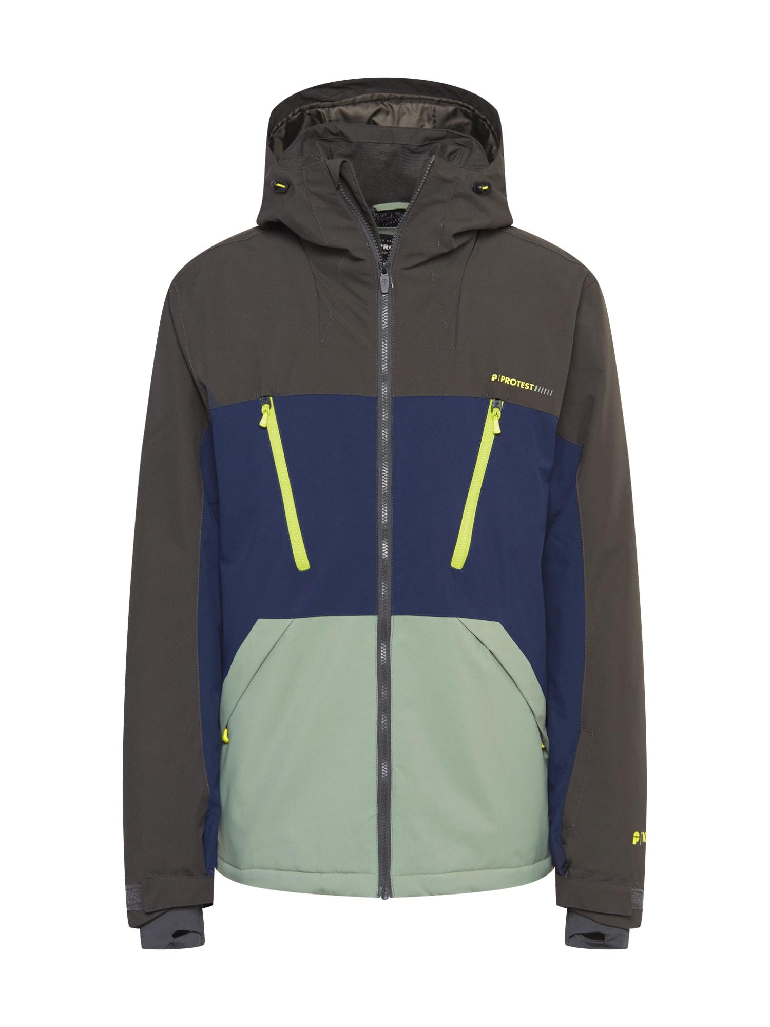 PROTEST Sportinė striukė tamsiai mėlyna / alyvuogių spalva / šviesiai žalia