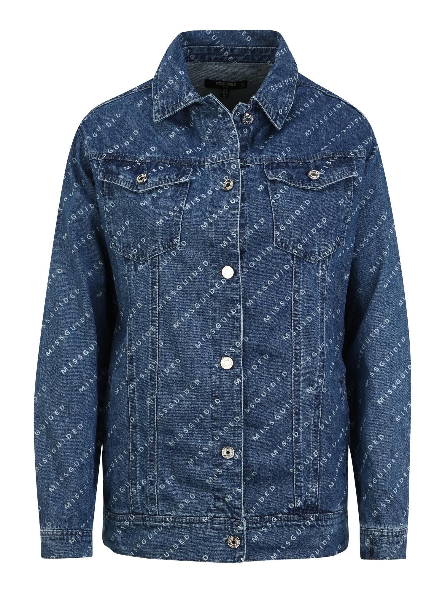 Missguided (Tall) Demisezoninė striukė tamsiai (džinso) mėlyna / balta