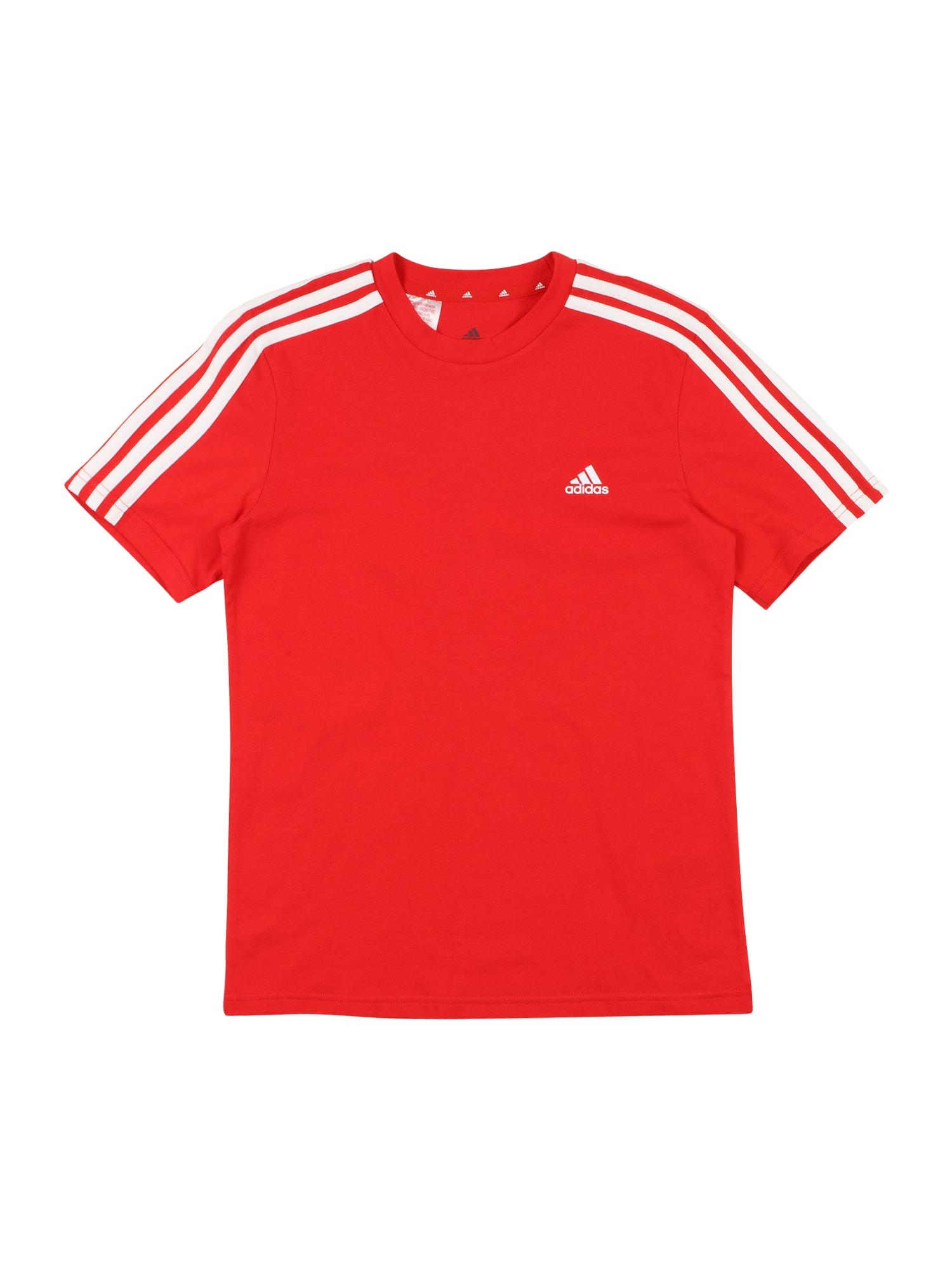 ADIDAS PERFORMANCE Sportiniai marškinėliai šviesiai raudona / balta