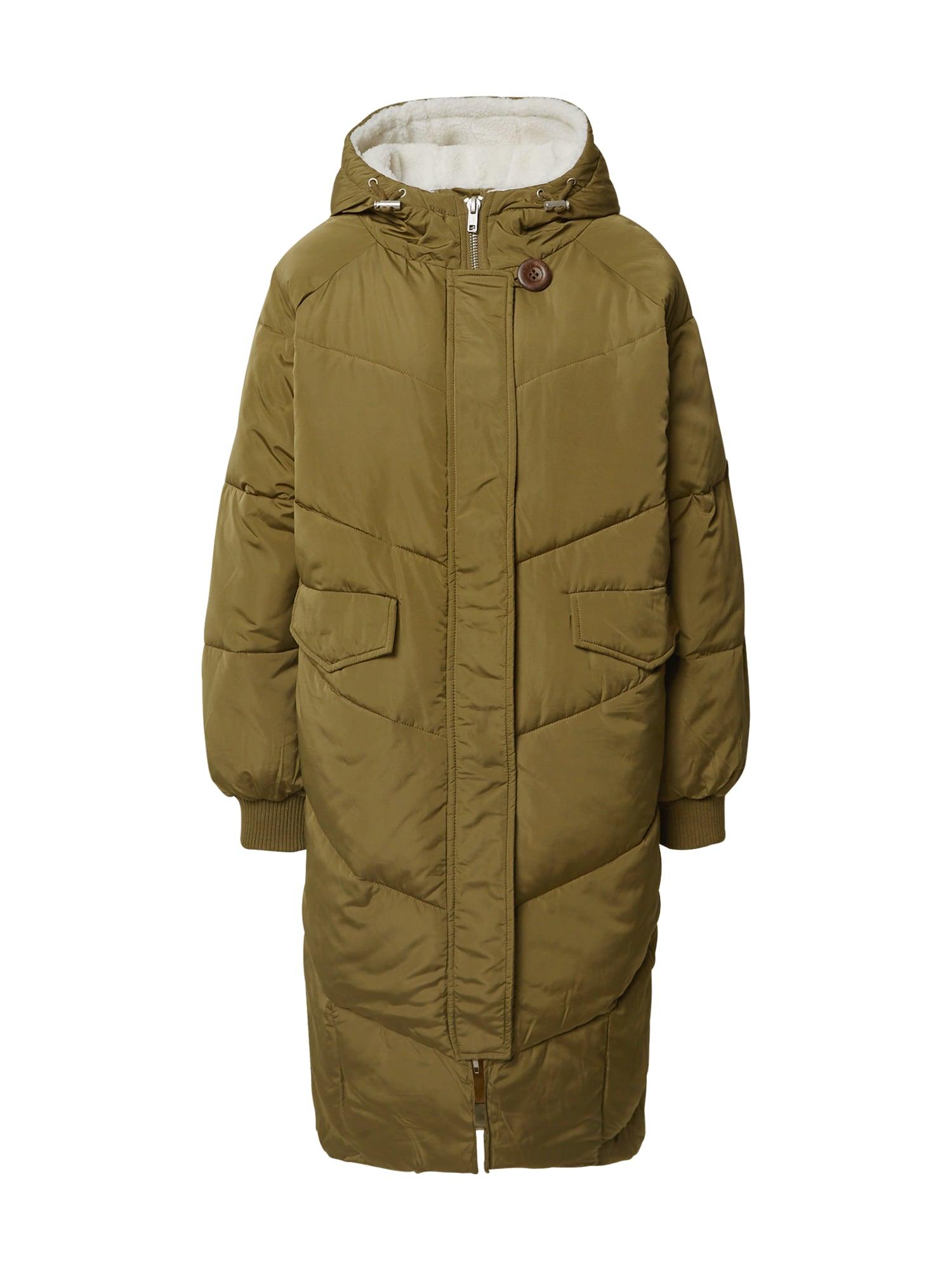 NÜMPH Zimní kabát  olivová