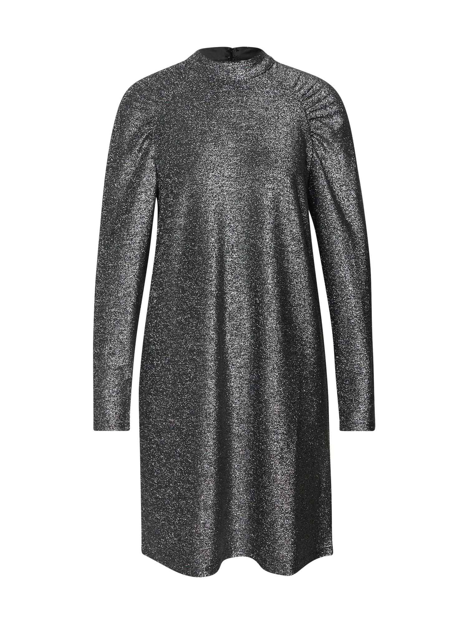 ICHI Šaty  stříbrně šedá