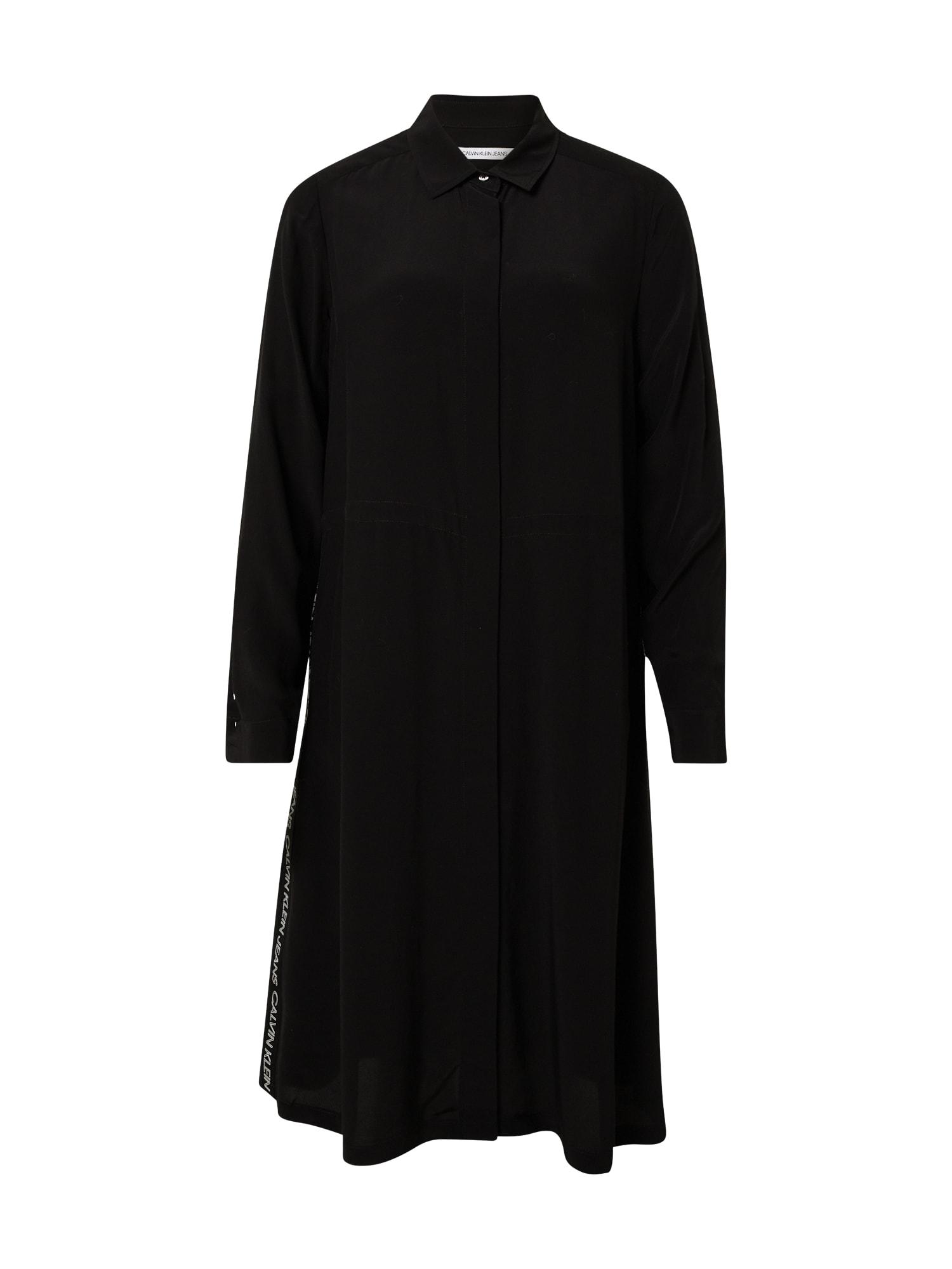 Calvin Klein Jeans Palaidinės tipo suknelė juoda