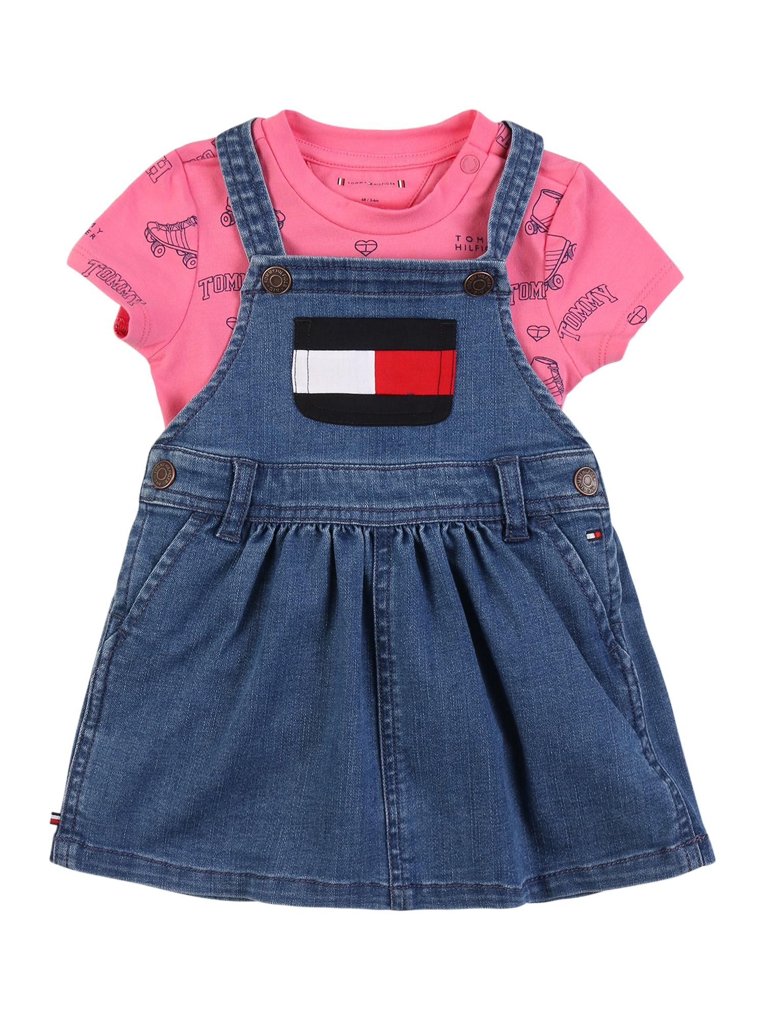 TOMMY HILFIGER Rinkinys tamsiai (džinso) mėlyna / rožinė / tamsiai mėlyna / balta / raudona