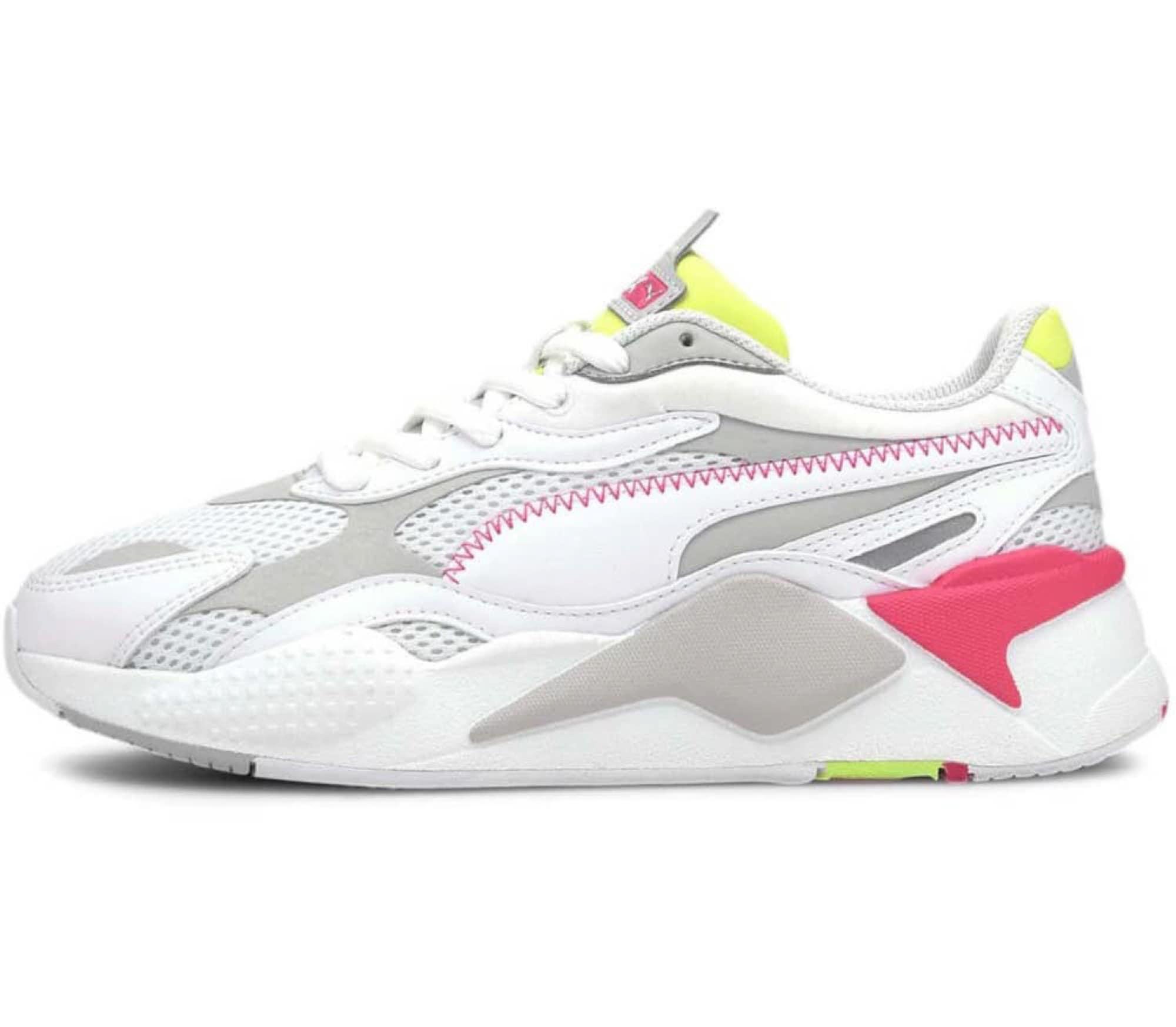 PUMA Nízke tenisky  ružová / biela / sivá