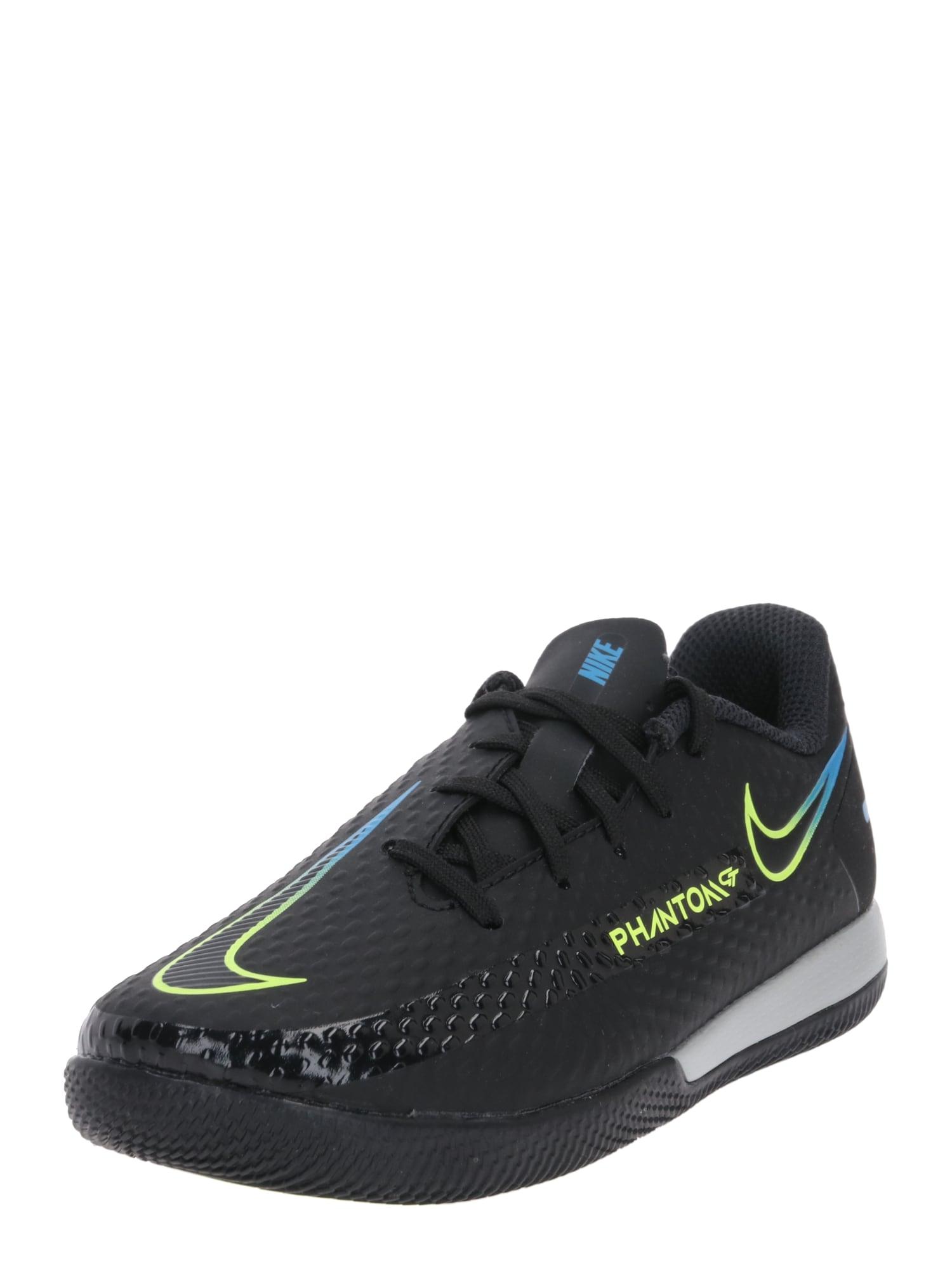 NIKE Sportiniai batai juoda / šviesiai mėlyna / neoninė geltona