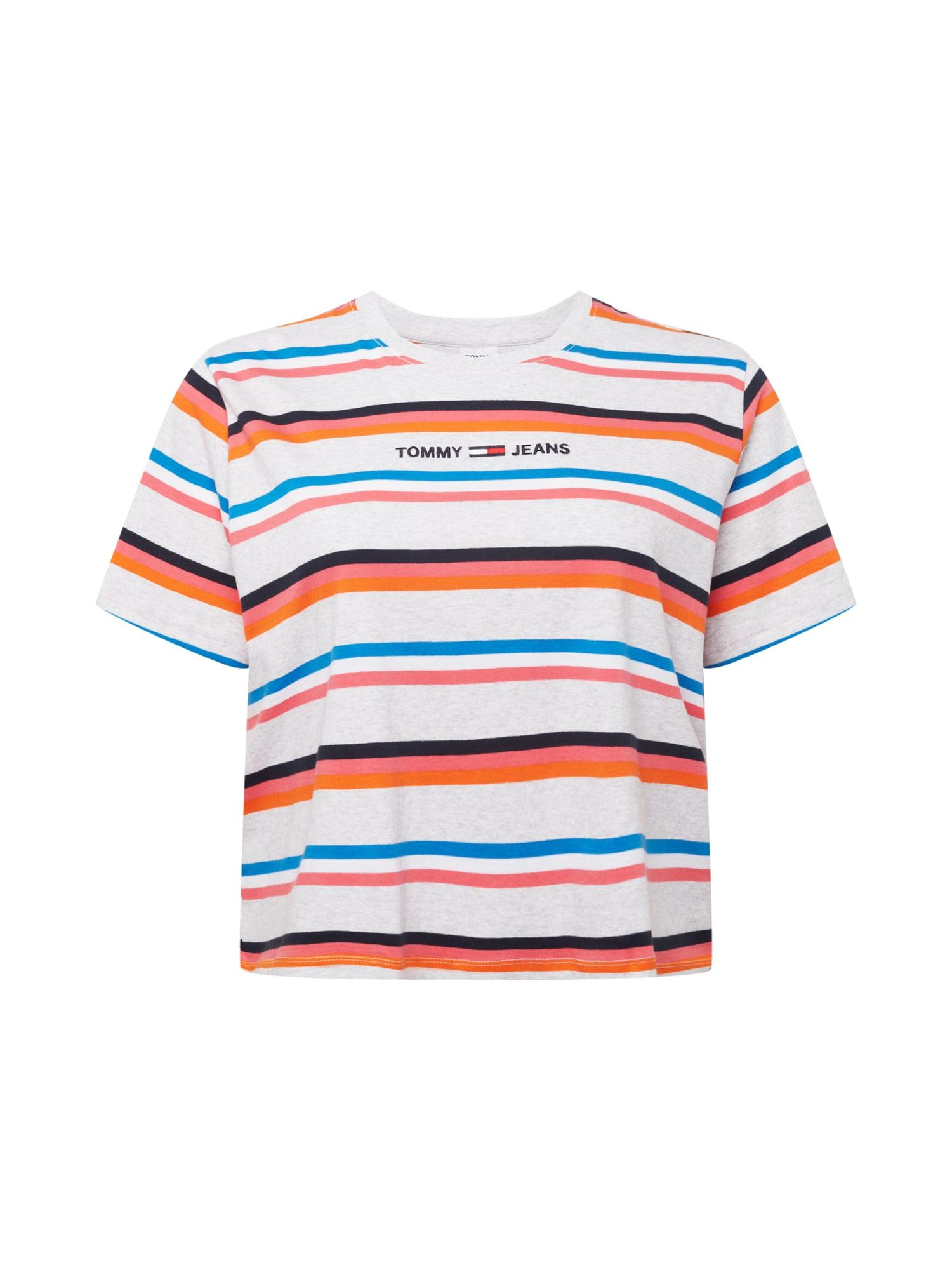 Tommy Jeans Curve Marškinėliai šviesiai pilka / mišrios spalvos