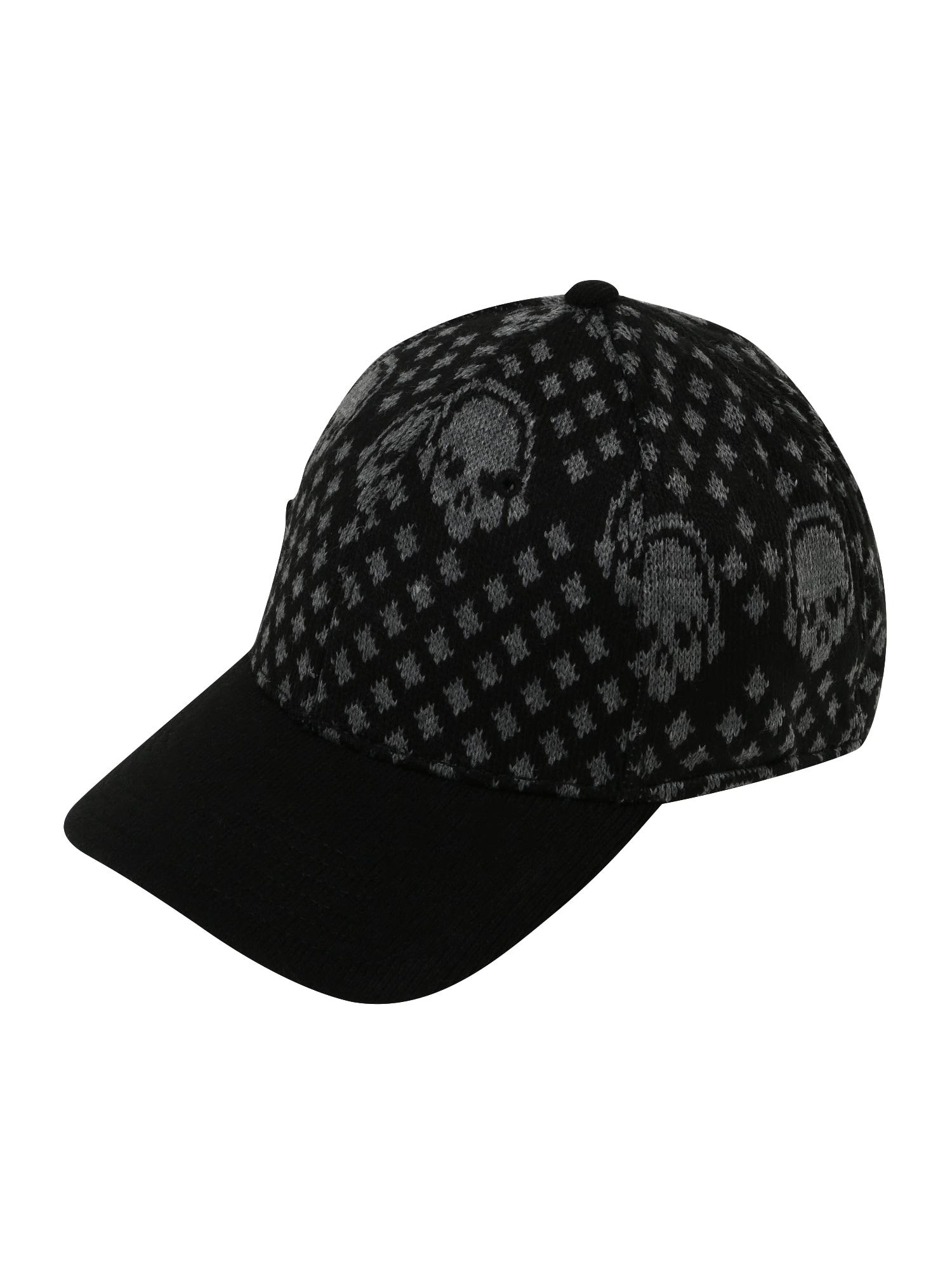BRUNO BANANI Kepurė juoda / margai pilka