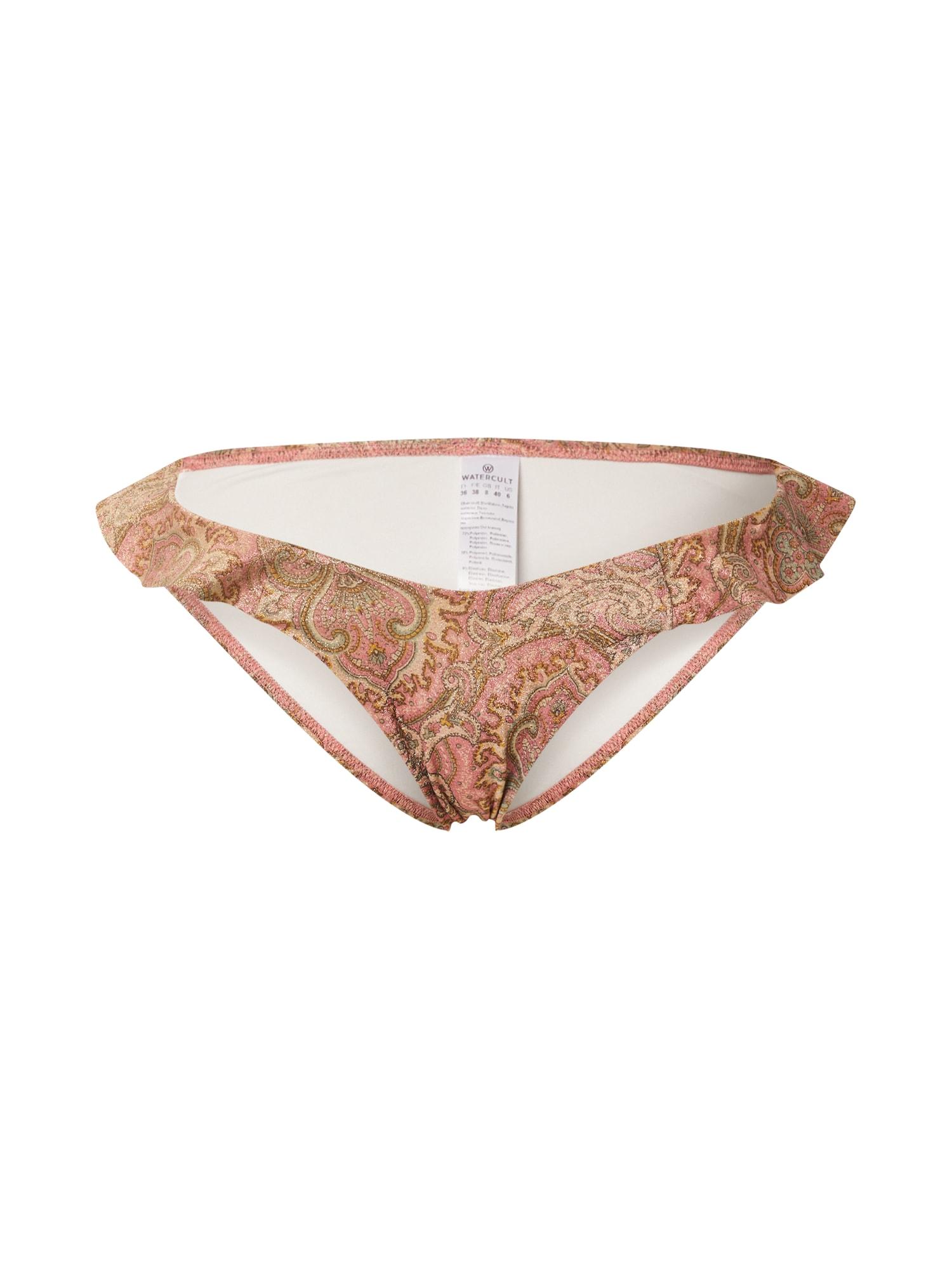 watercult Bikinio kelnaitės rožinė / tamsi smėlio / brokato spalva