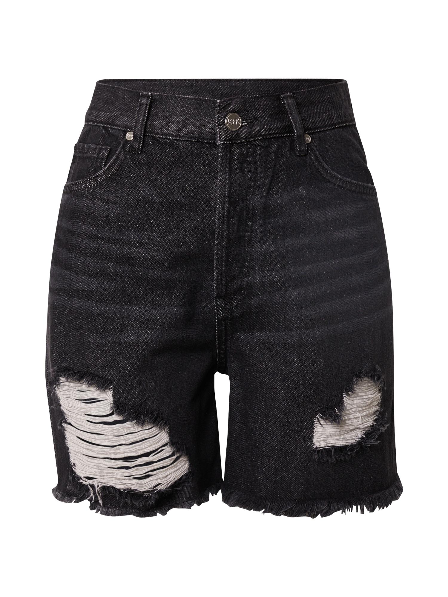 KENDALL + KYLIE Džinsai juodo džinso spalva