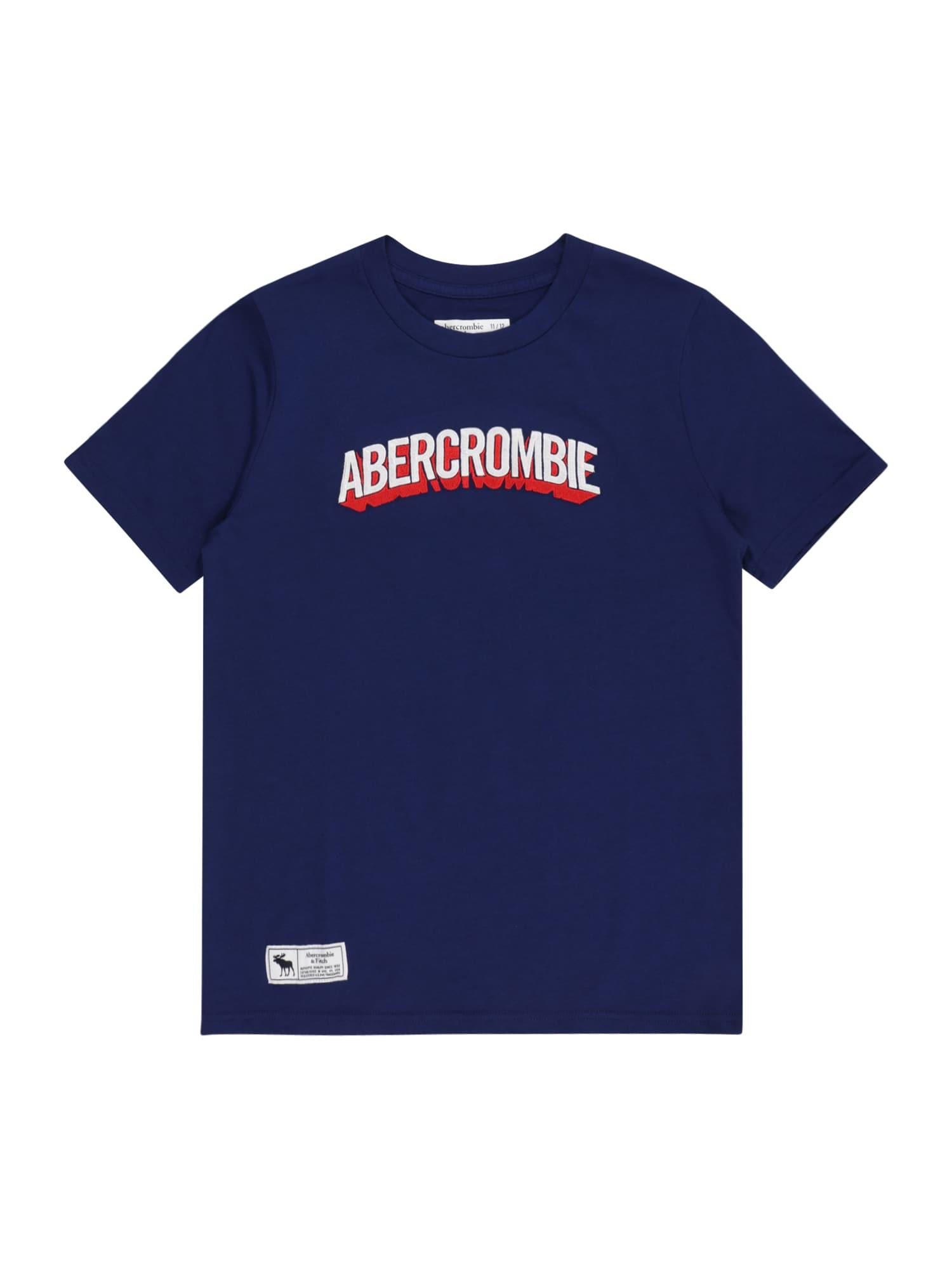 Abercrombie & Fitch Marškinėliai 'SUPERMAN' tamsiai mėlyna / balta / šviesiai raudona