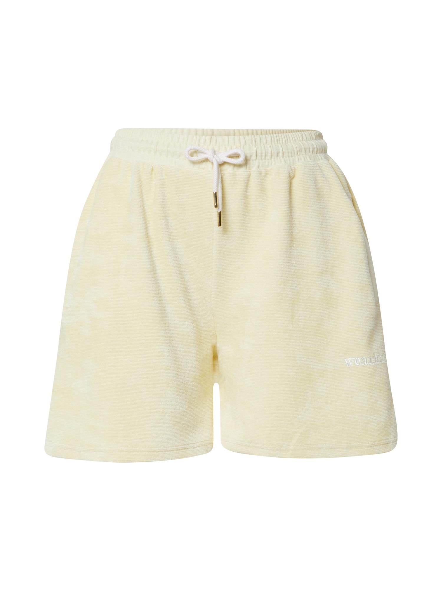 WEARKND Kelnės šviesiai geltona