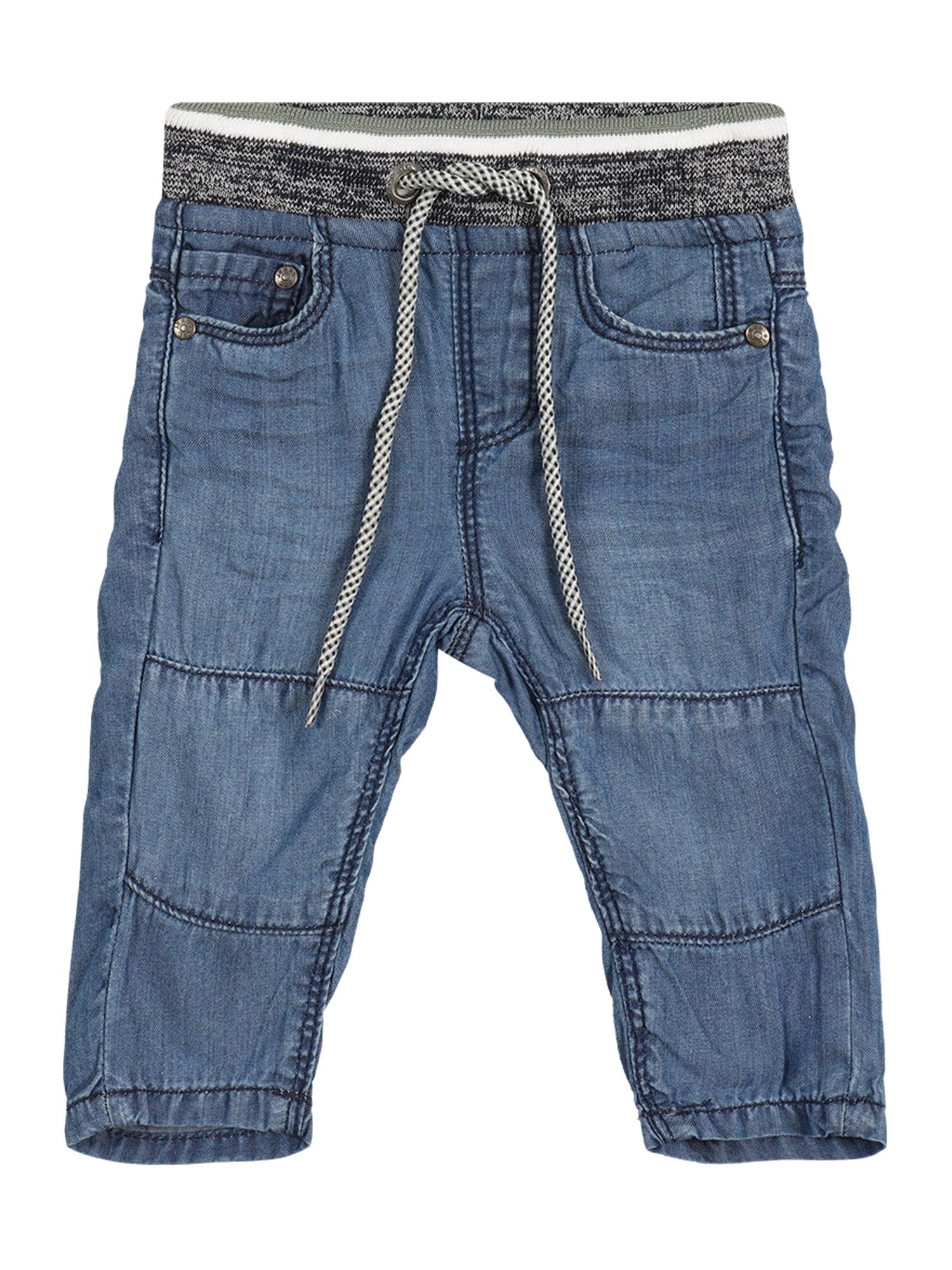 STACCATO Džinsai tamsiai (džinso) mėlyna / margai pilka / balta