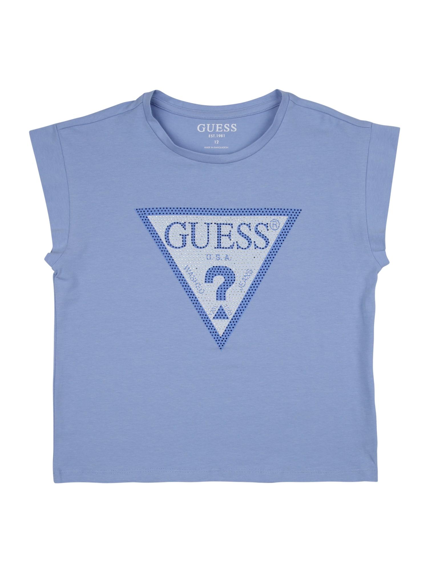 GUESS KIDS Marškinėliai mėlyna / balta / šviesiai mėlyna