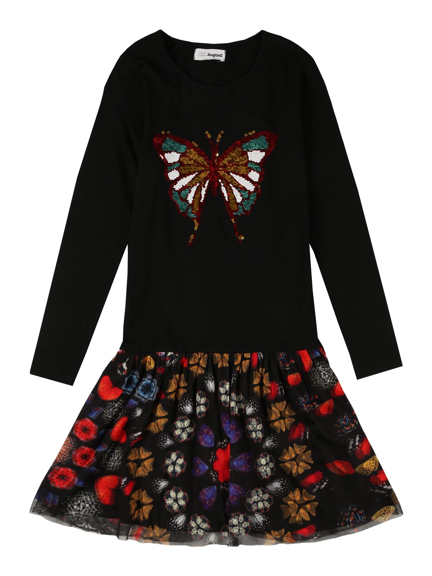 Desigual Suknelė 'KAYLA' juoda / mišrios spalvos