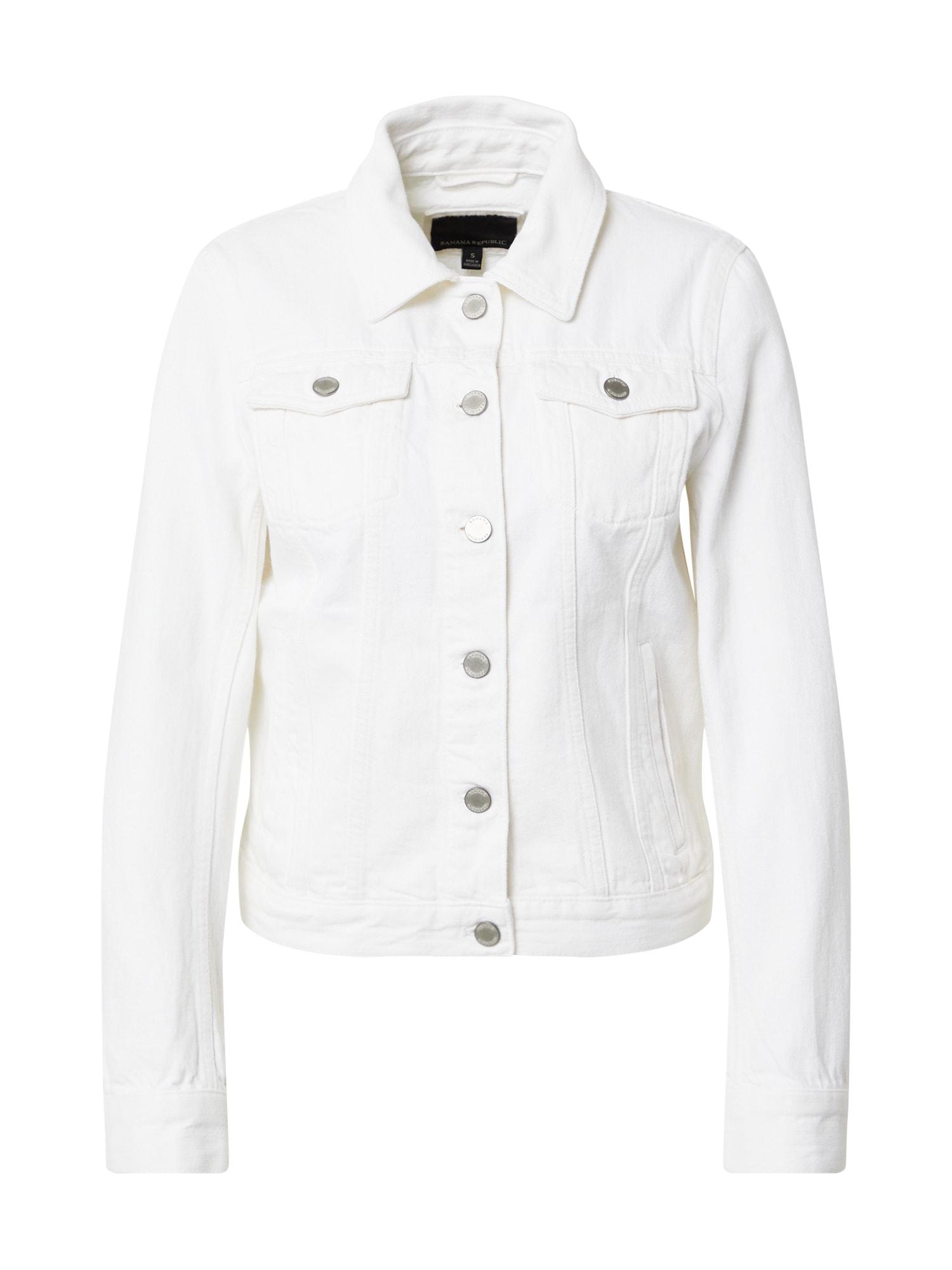 Banana Republic Demisezoninė striukė balto džinso spalva