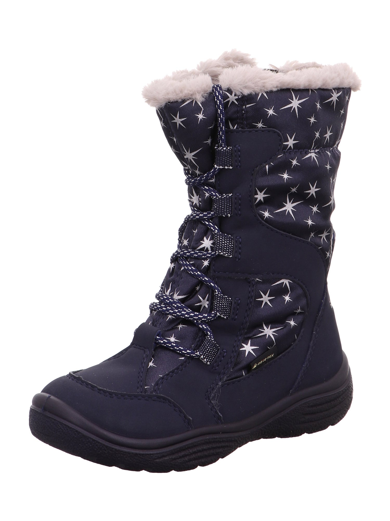 SUPERFIT Sniego batai 'Crystal' nakties mėlyna / pastelinė rožinė / sidabras