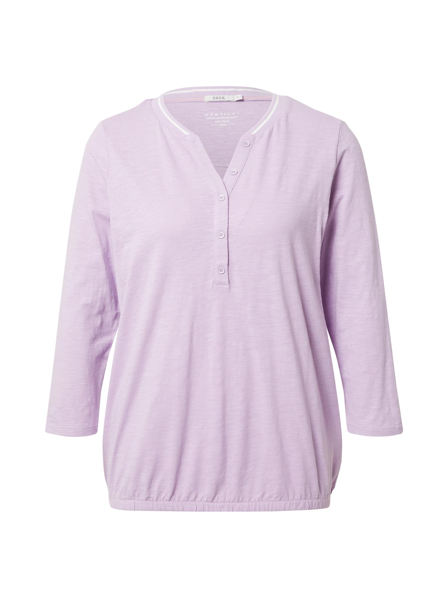 CECIL Marškinėliai rausvai violetinė