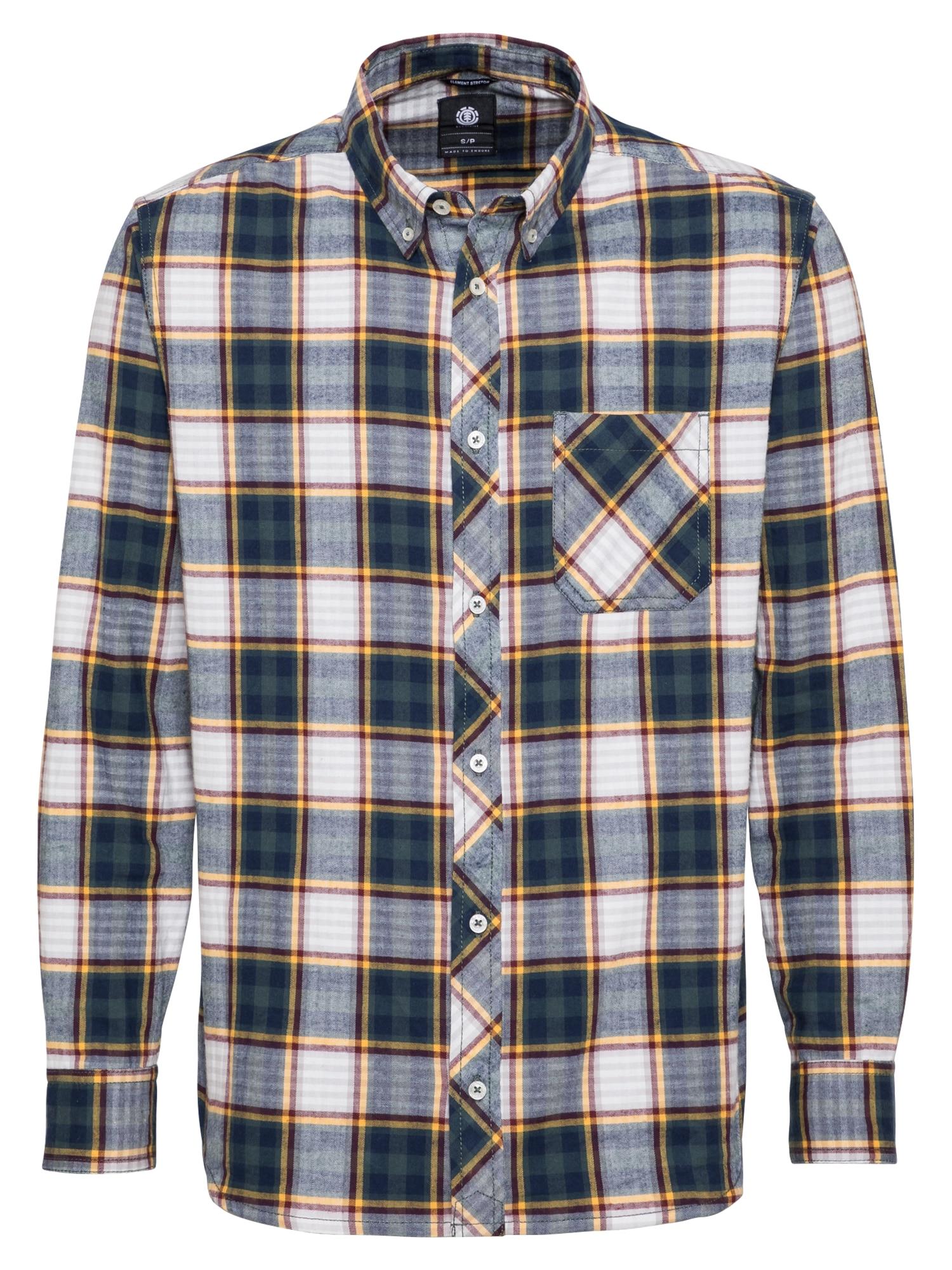 ELEMENT Košile 'Lumber'  bílá / petrolejová / burgundská červeň / žlutá