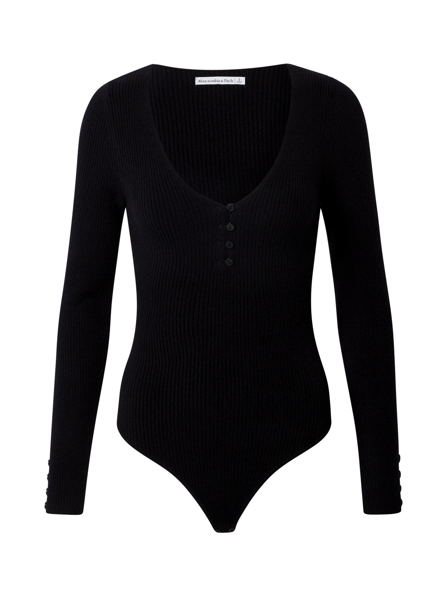 Abercrombie & Fitch Marškinėliai-glaustinukė juoda