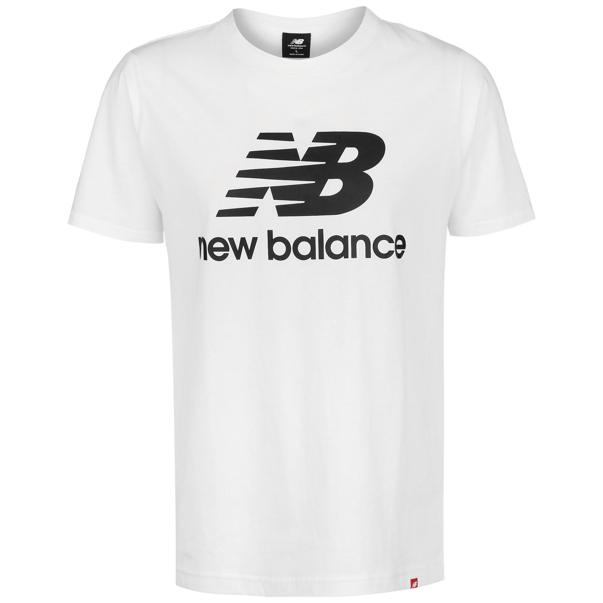 new balance Marškinėliai balta / juoda