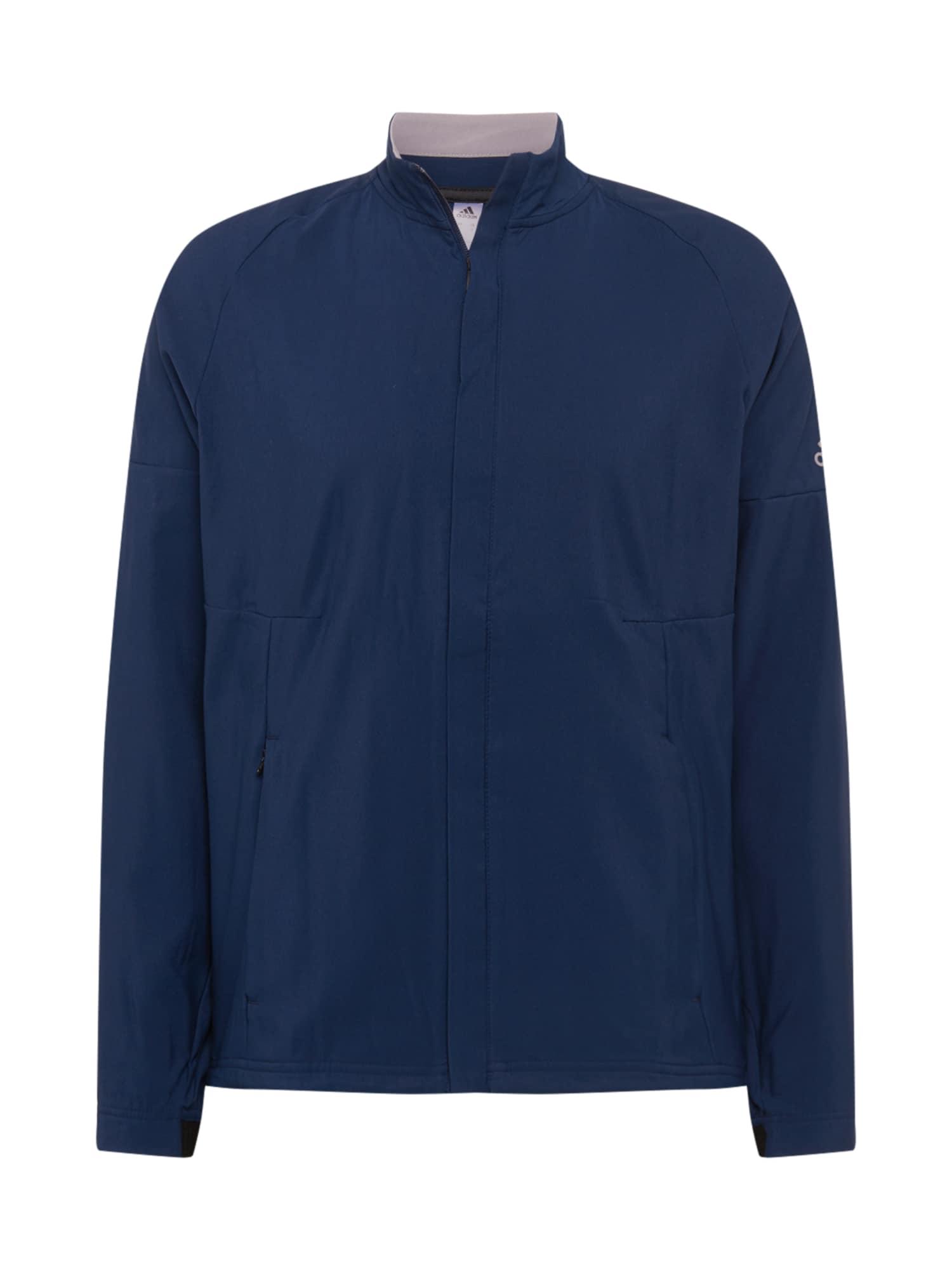 adidas Golf Sportinė striukė tamsiai mėlyna / šviesiai pilka
