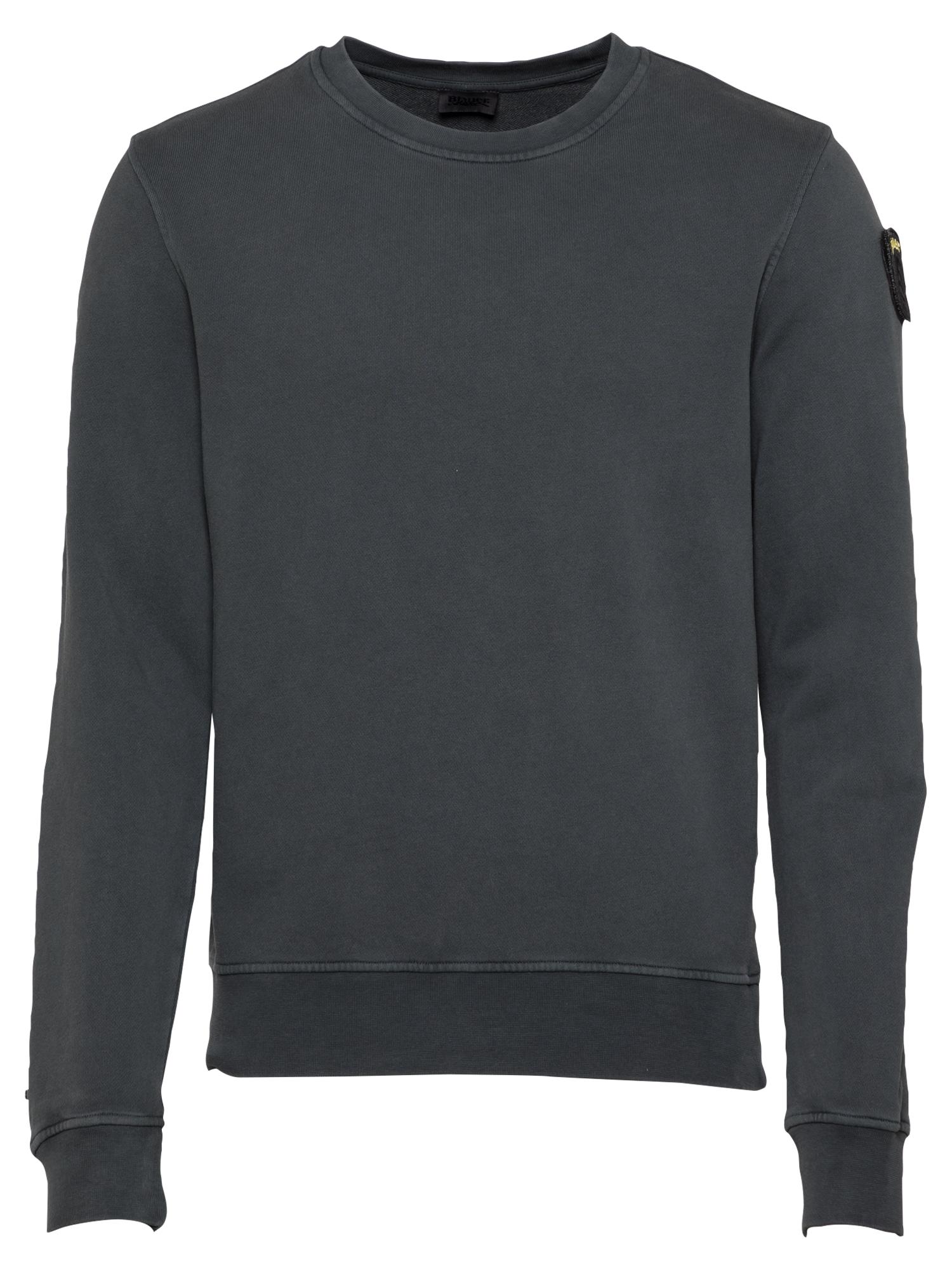 Blauer.USA Megztinis be užsegimo tamsiai pilka / juoda