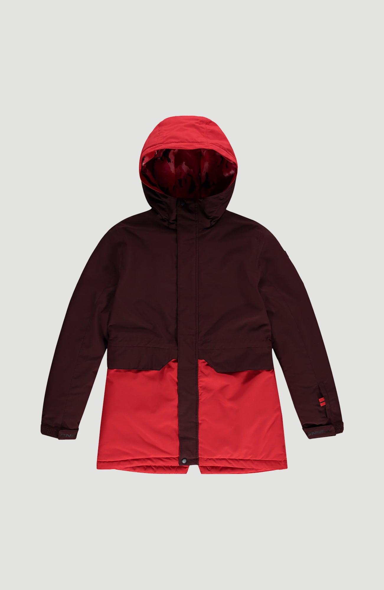 O'NEILL Sportovní bunda 'Zeolite'  tmavě hnědá / světle červená