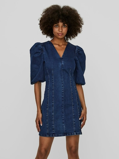 Vero Moda Aimee Kurzarm-Jeans-Minikleid mit V-Ausschnitt