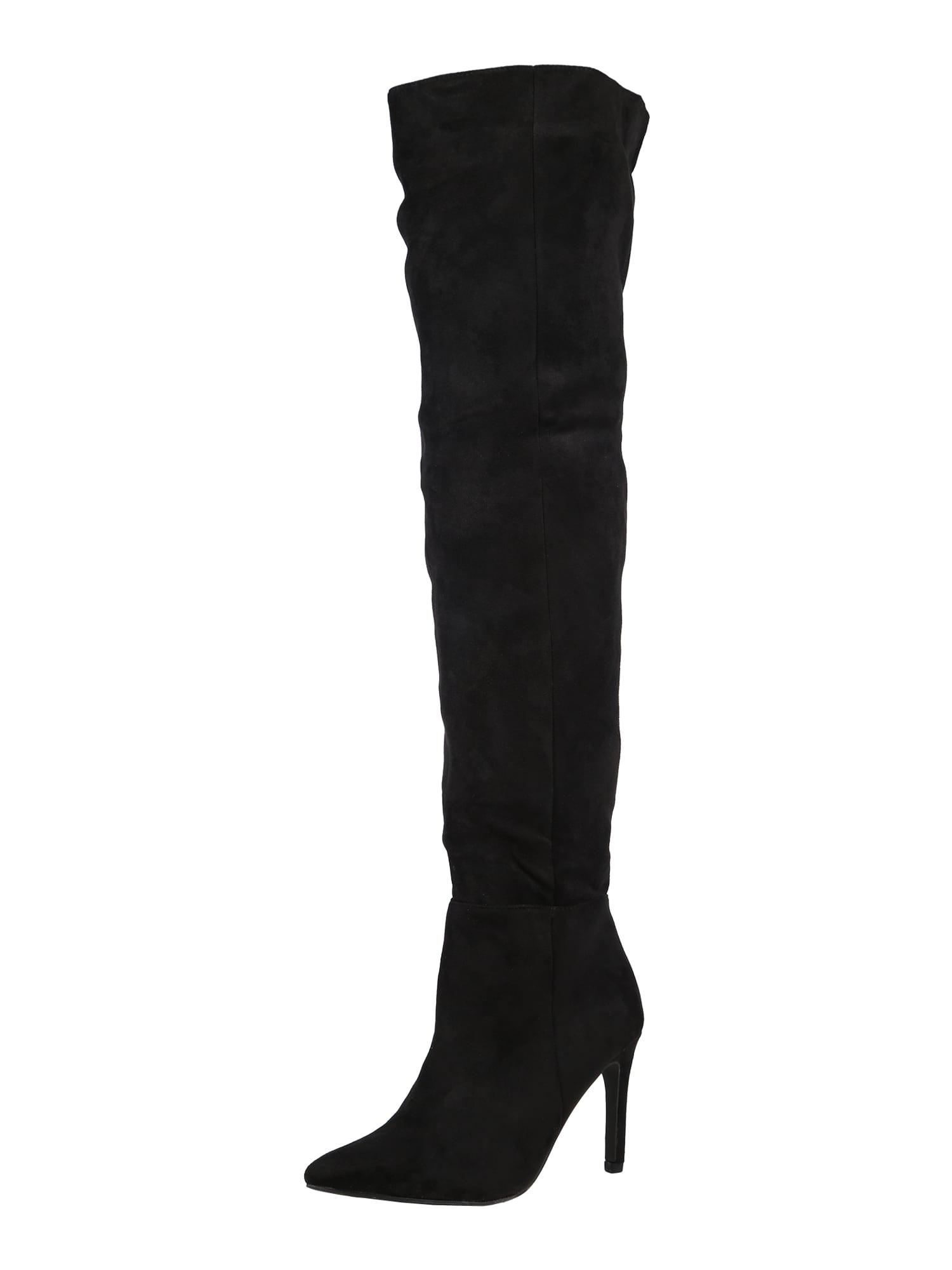 Missguided Ilgaauliai batai virš kelių juoda